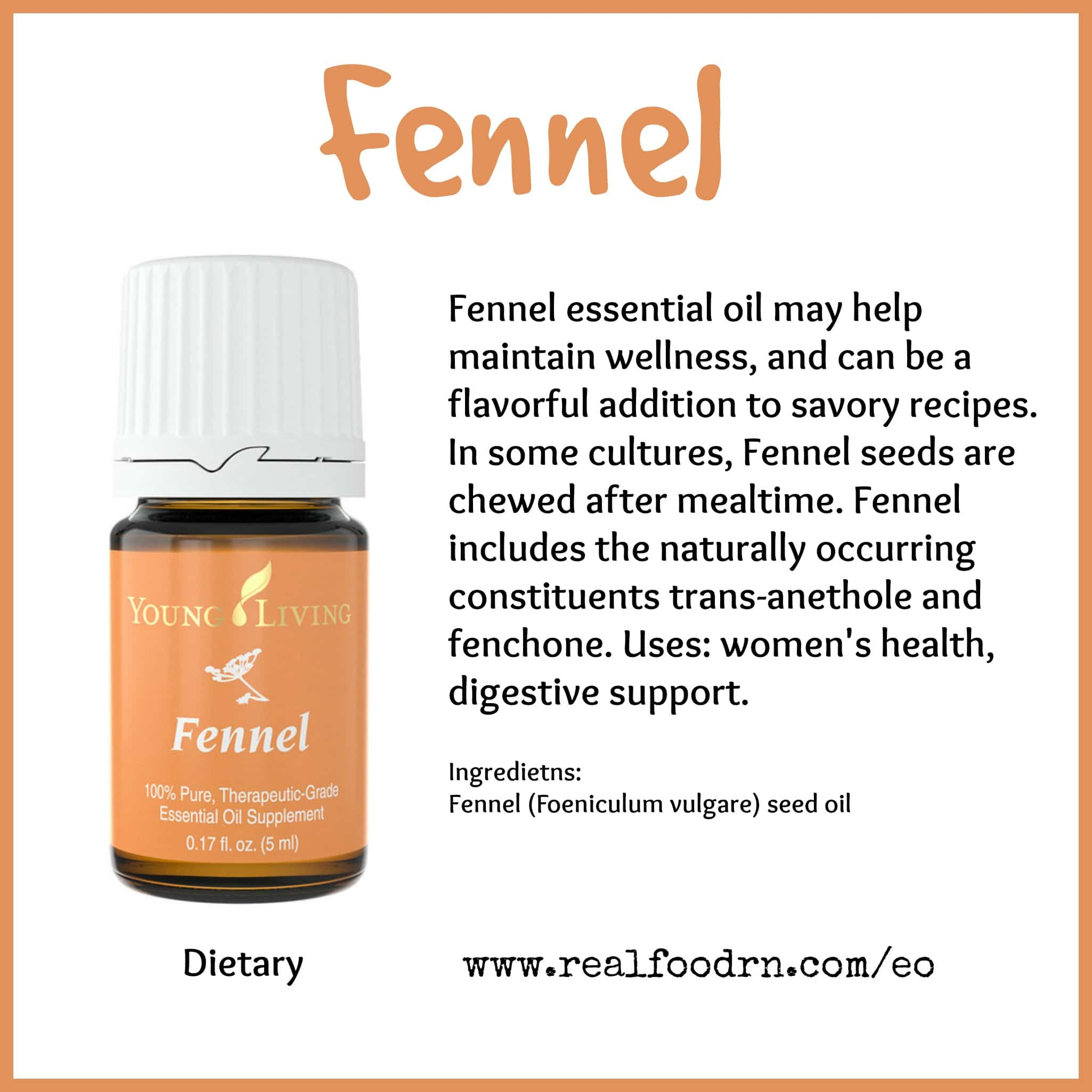 Fennel Essential Oil Pin