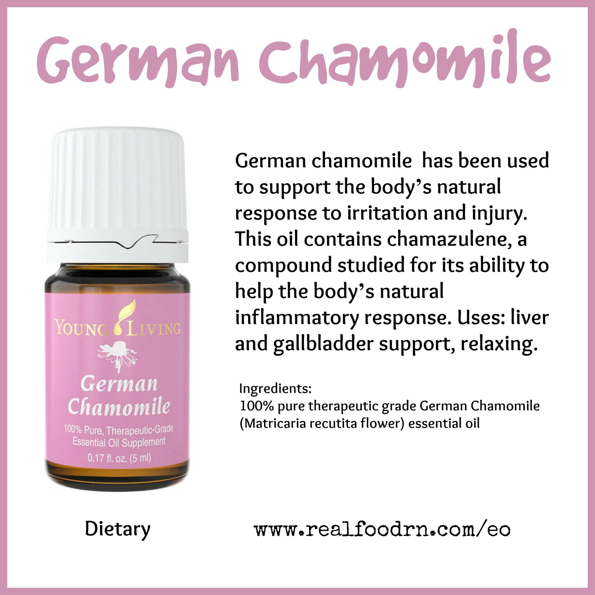 German Chamomile Essential Oil Pin