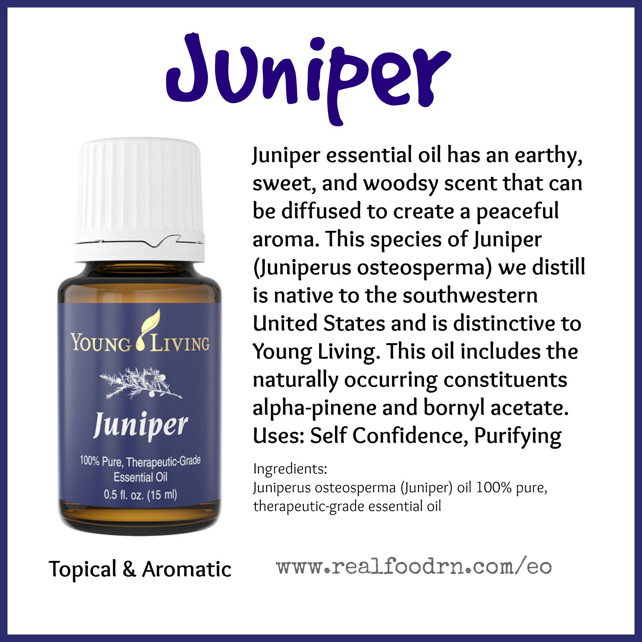 Juniper Essential Oil Pin