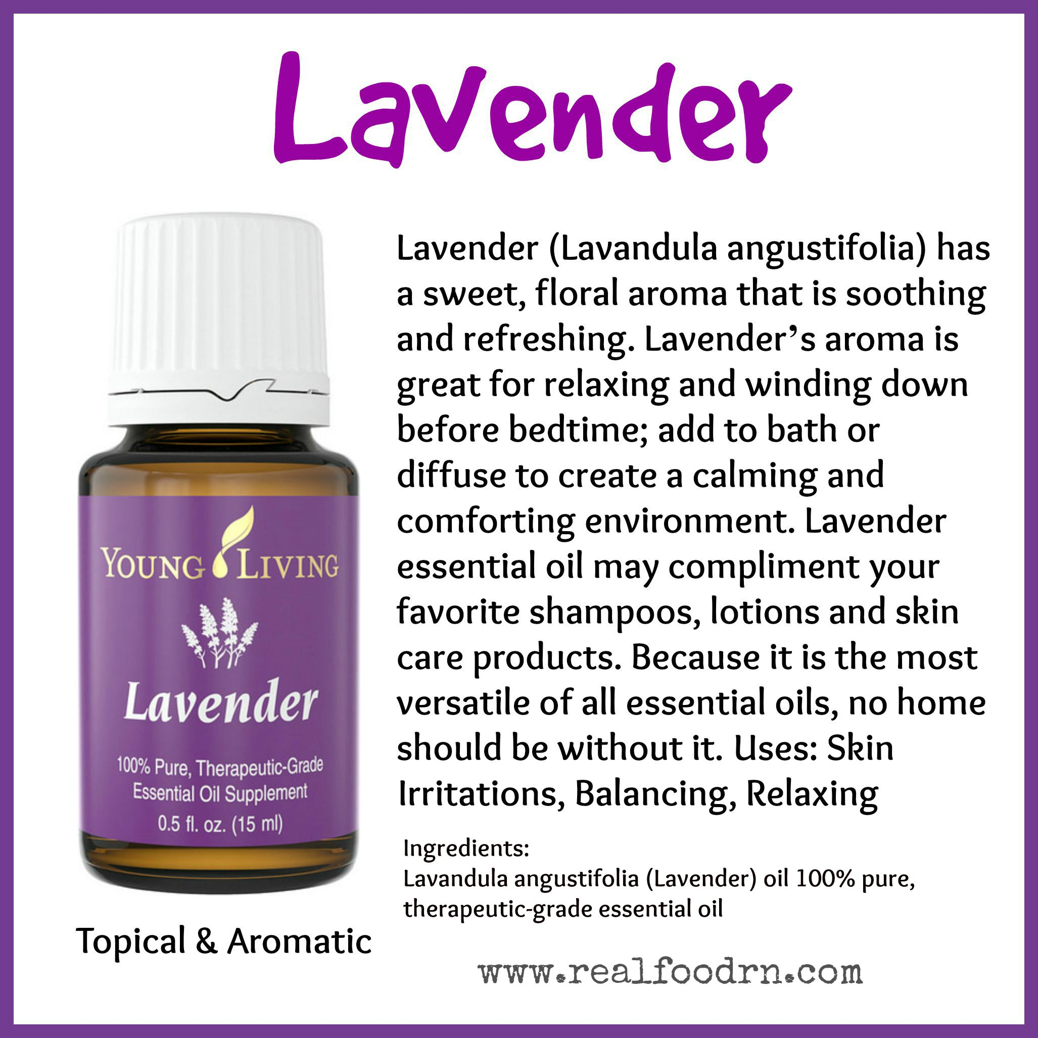 Lavender Essential Oil Pin