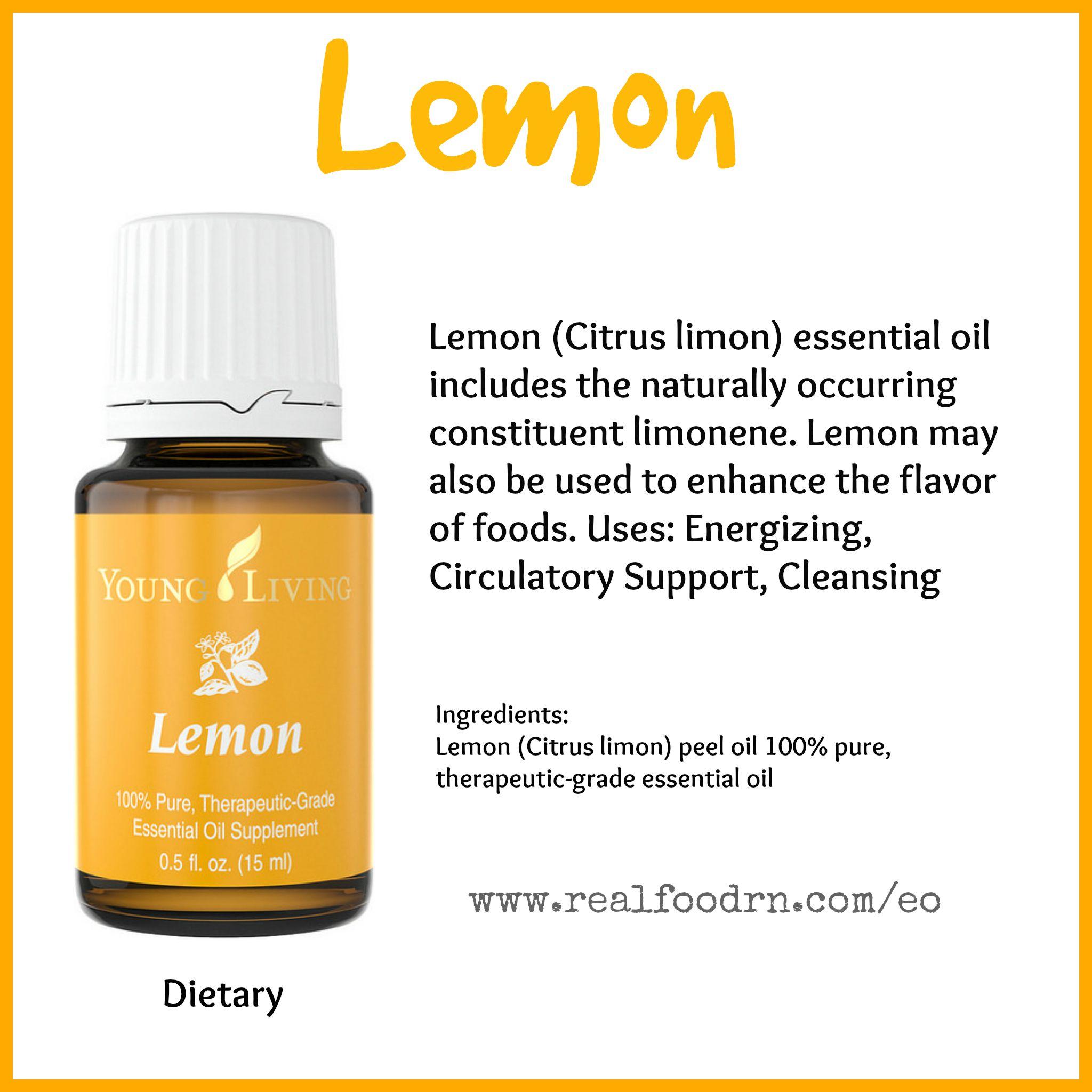 Lemon Essential Oil Pin
