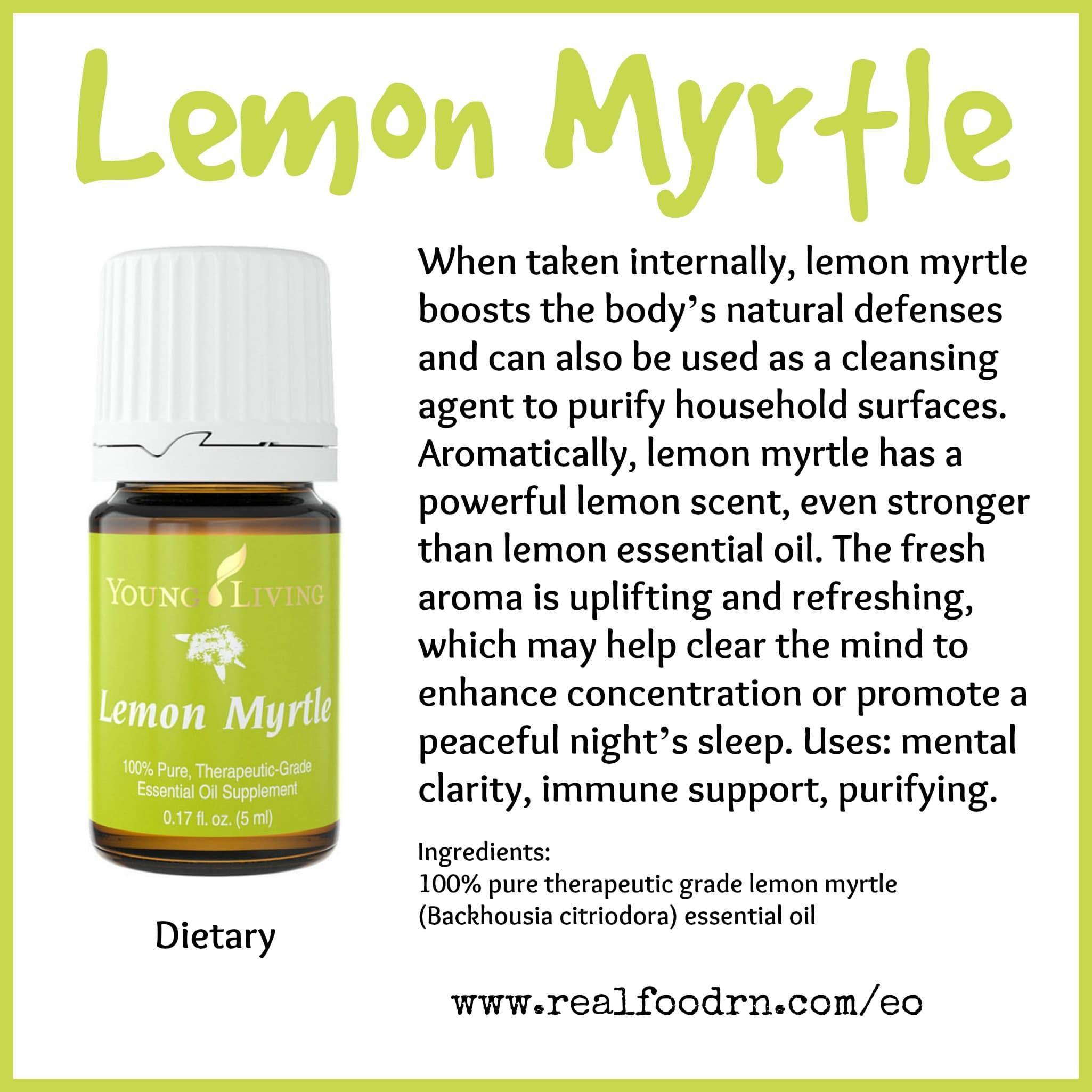 Lemon Myrtle Essential Oil Pin