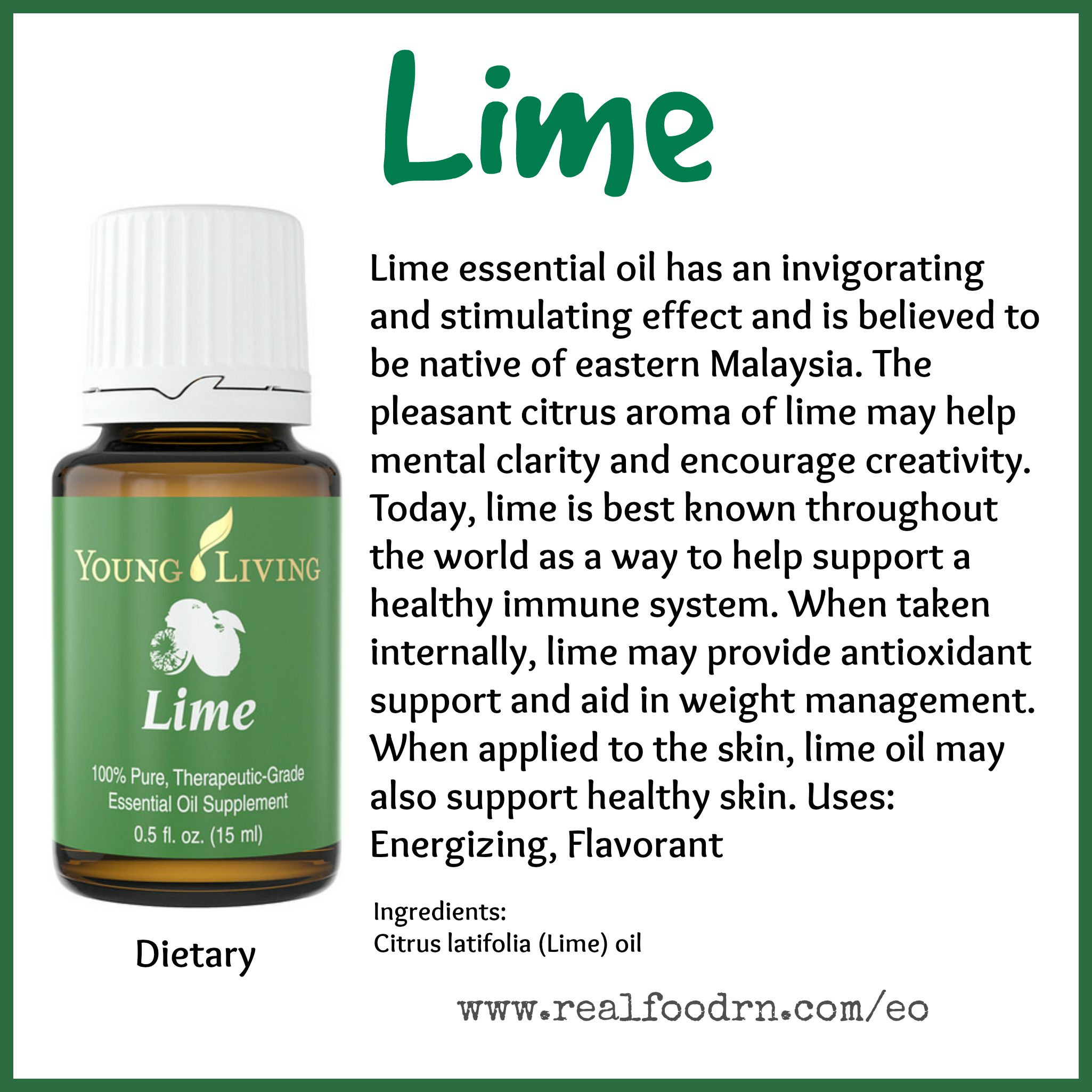 Lime Essential Oil Pin