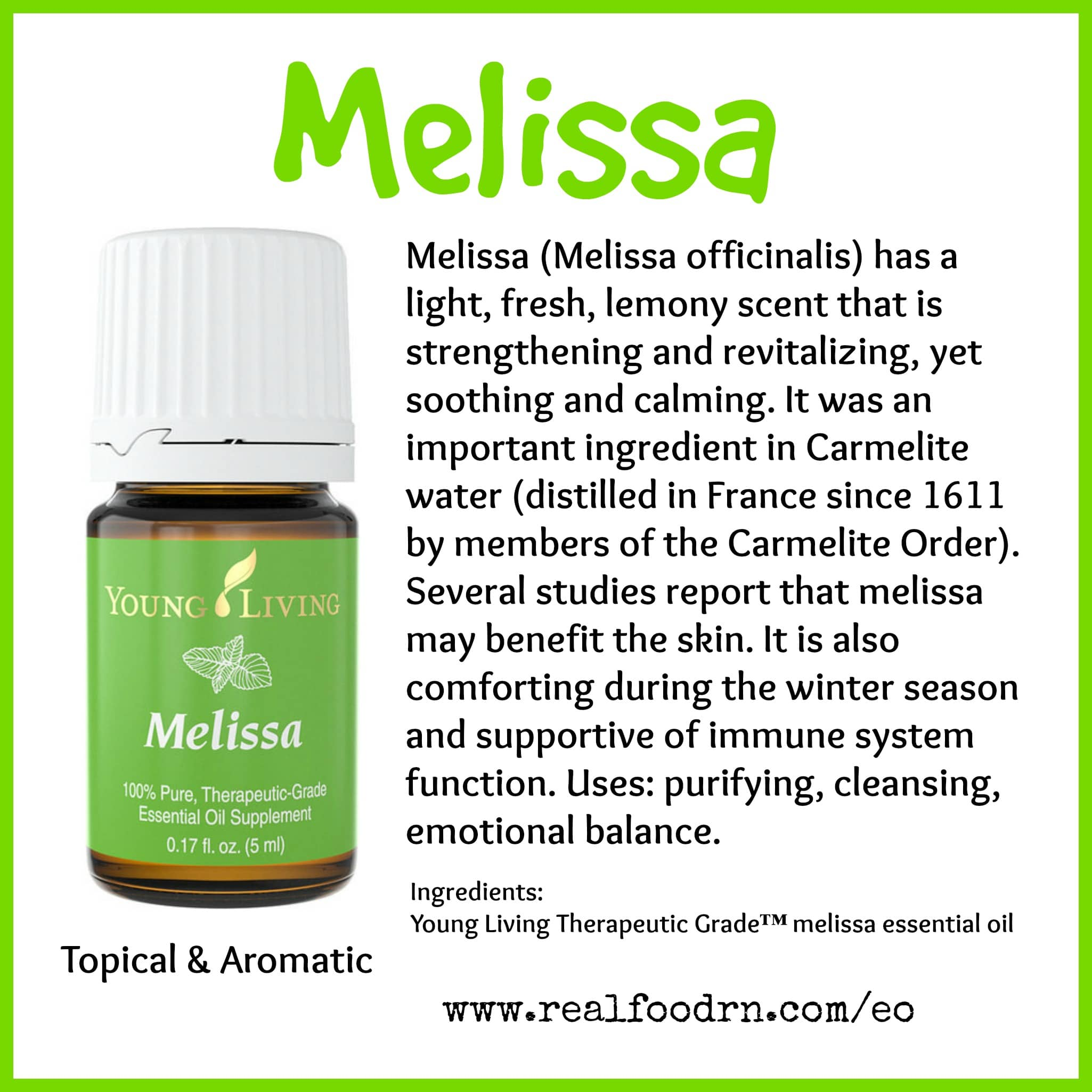Melissa Essential Oil Pin