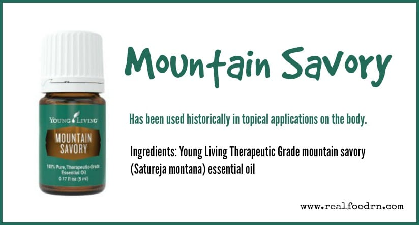 Mountain Savory Essential Oil | Real Food RN