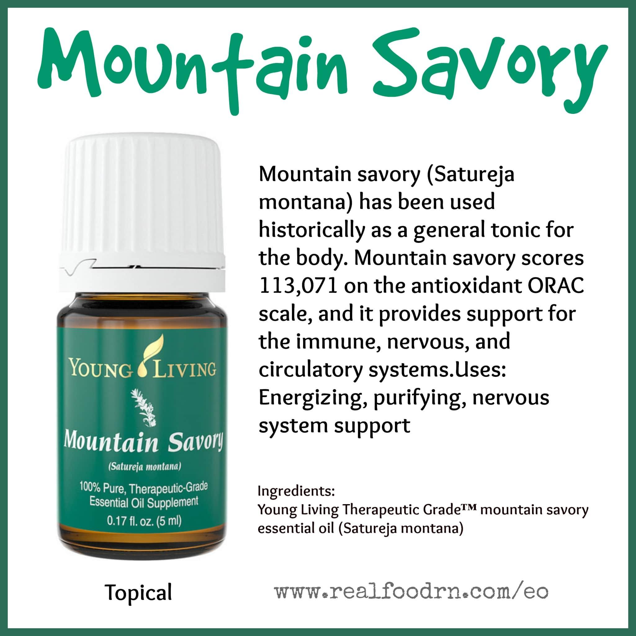 Mountain Savory Essential Oil Pin