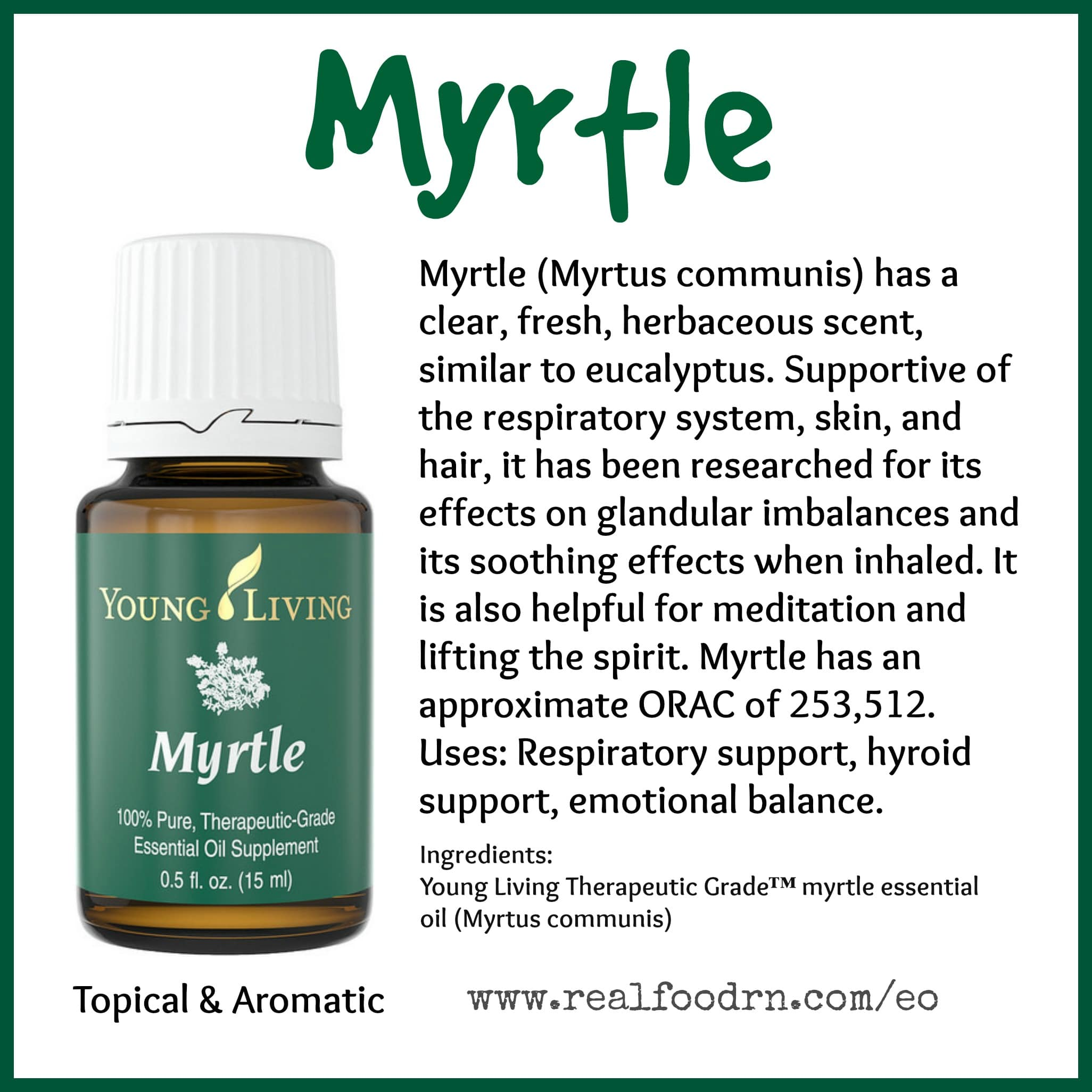 Myrtle Essential Oil Pin