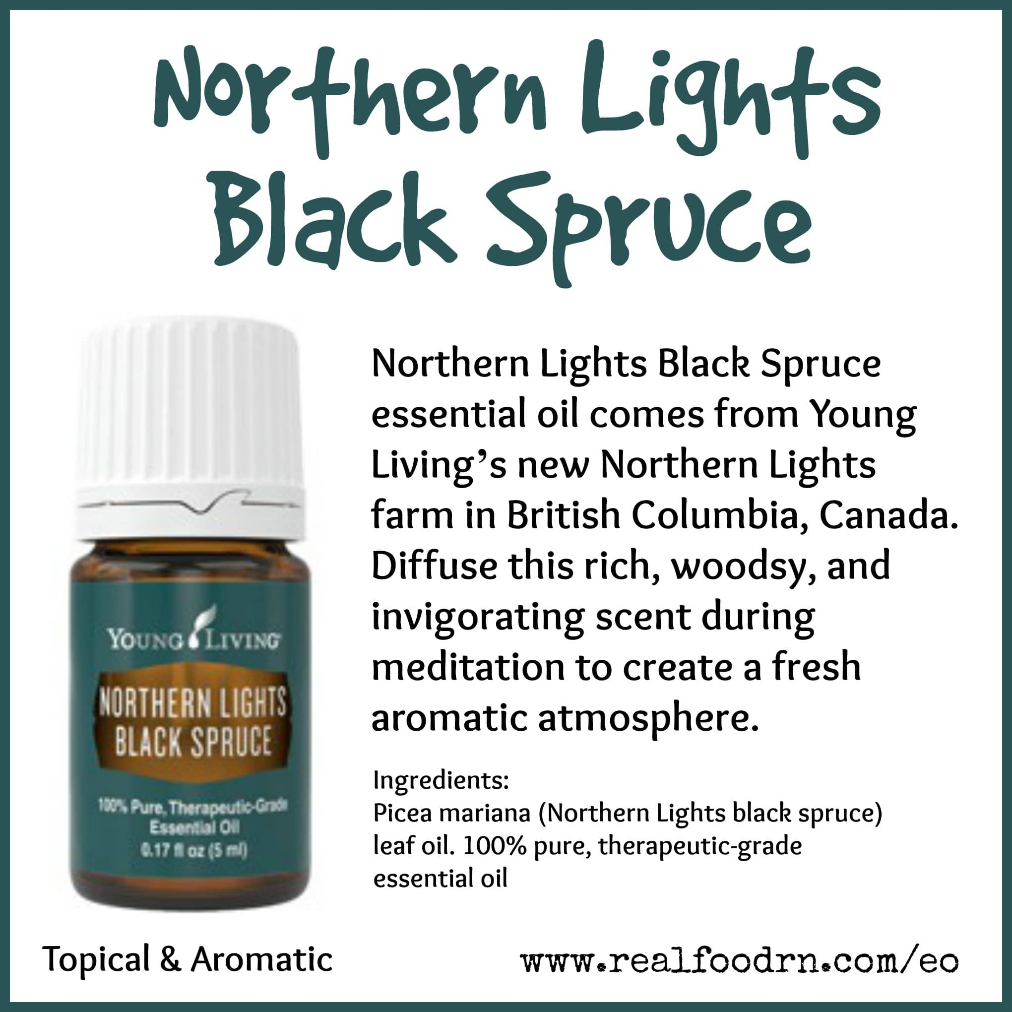 Northern Lights Black Spruce Essential Oil Pin