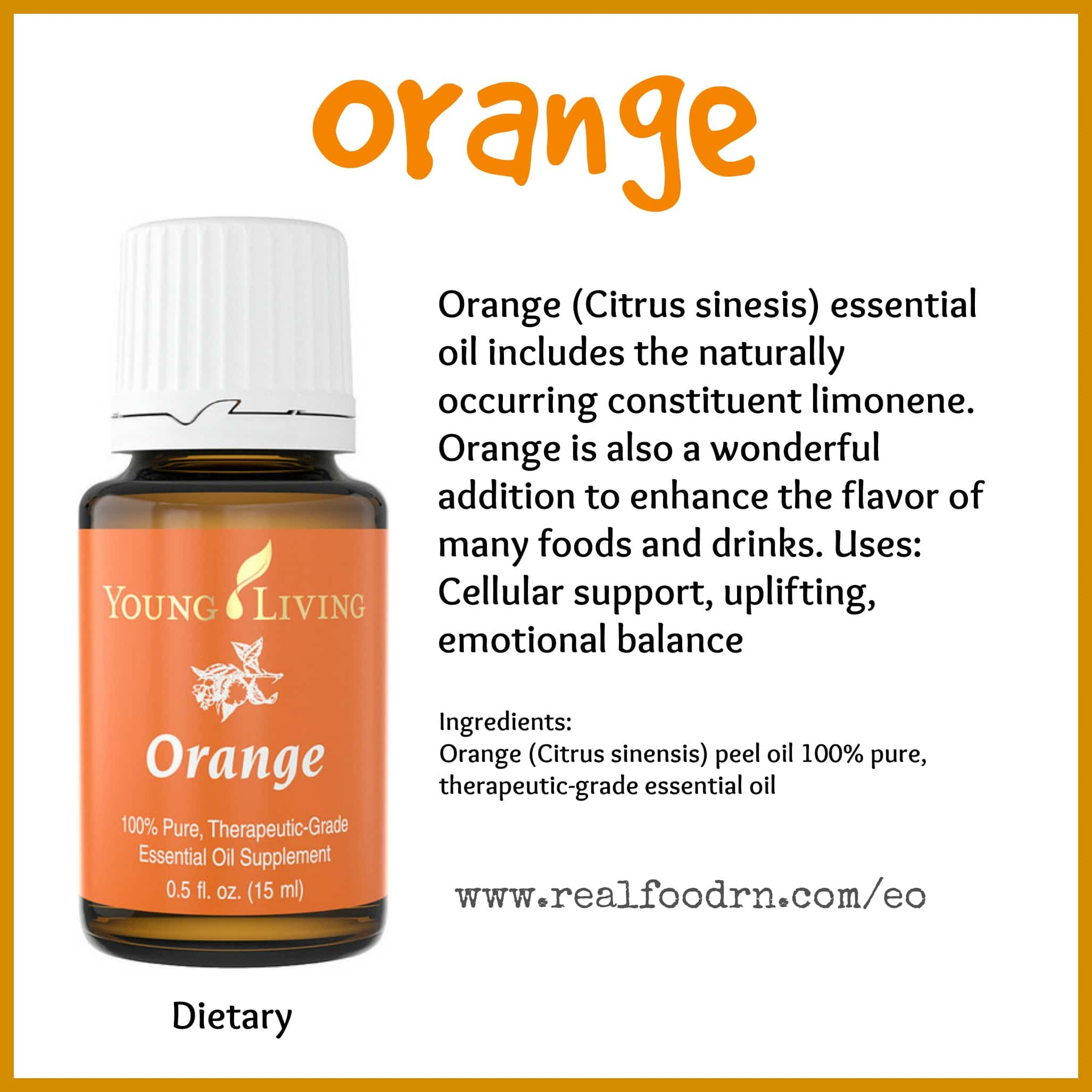 Orange Essential Oil Pin