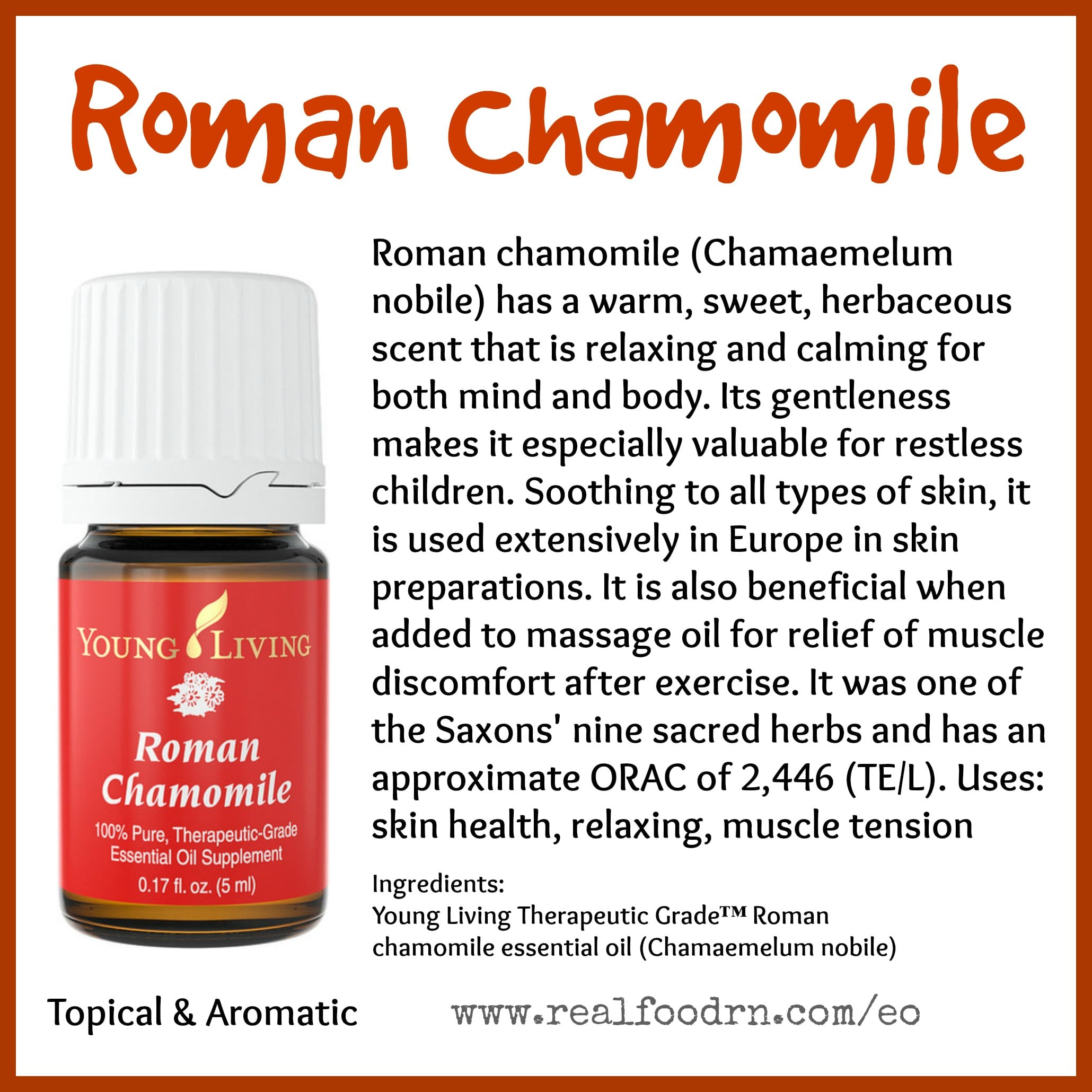 Roman Chamomile Essential Oil Pin