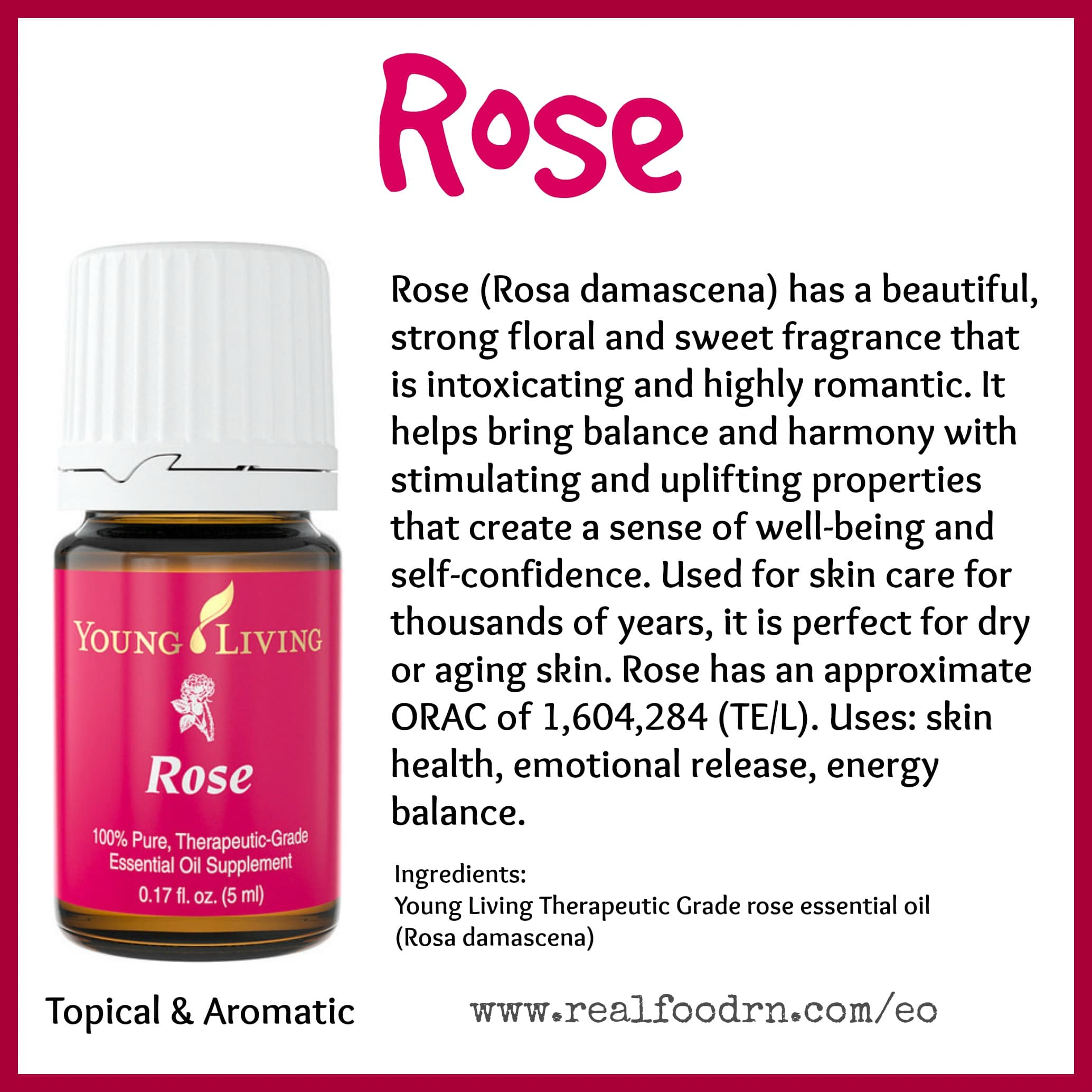 Rose Essential Oil Pin