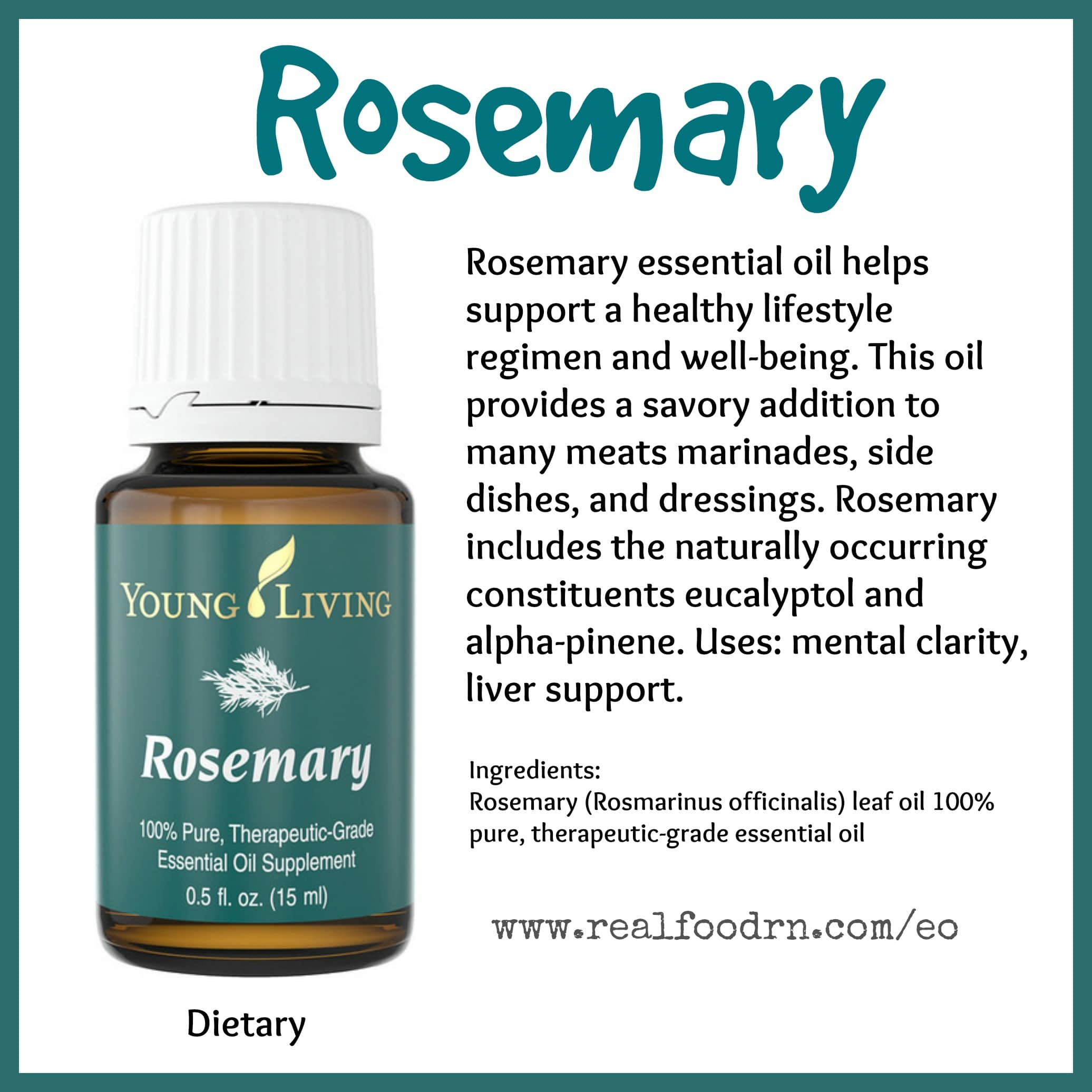Rosemary Essential Oil Real Food Rn