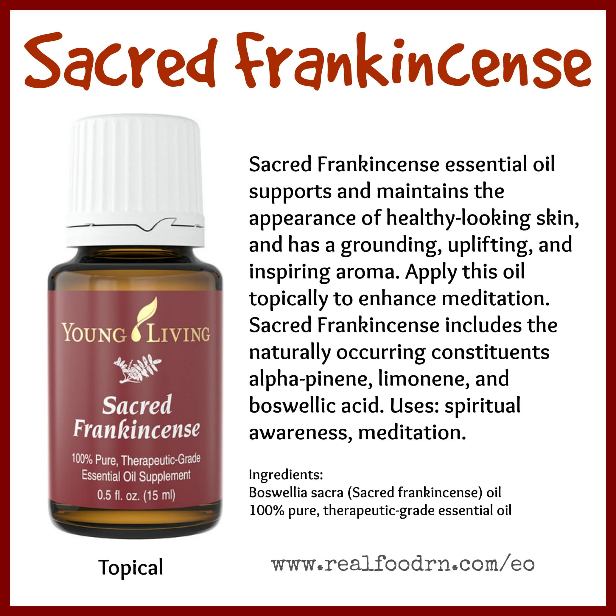 Sacred Frankincense Essential Oil Pin