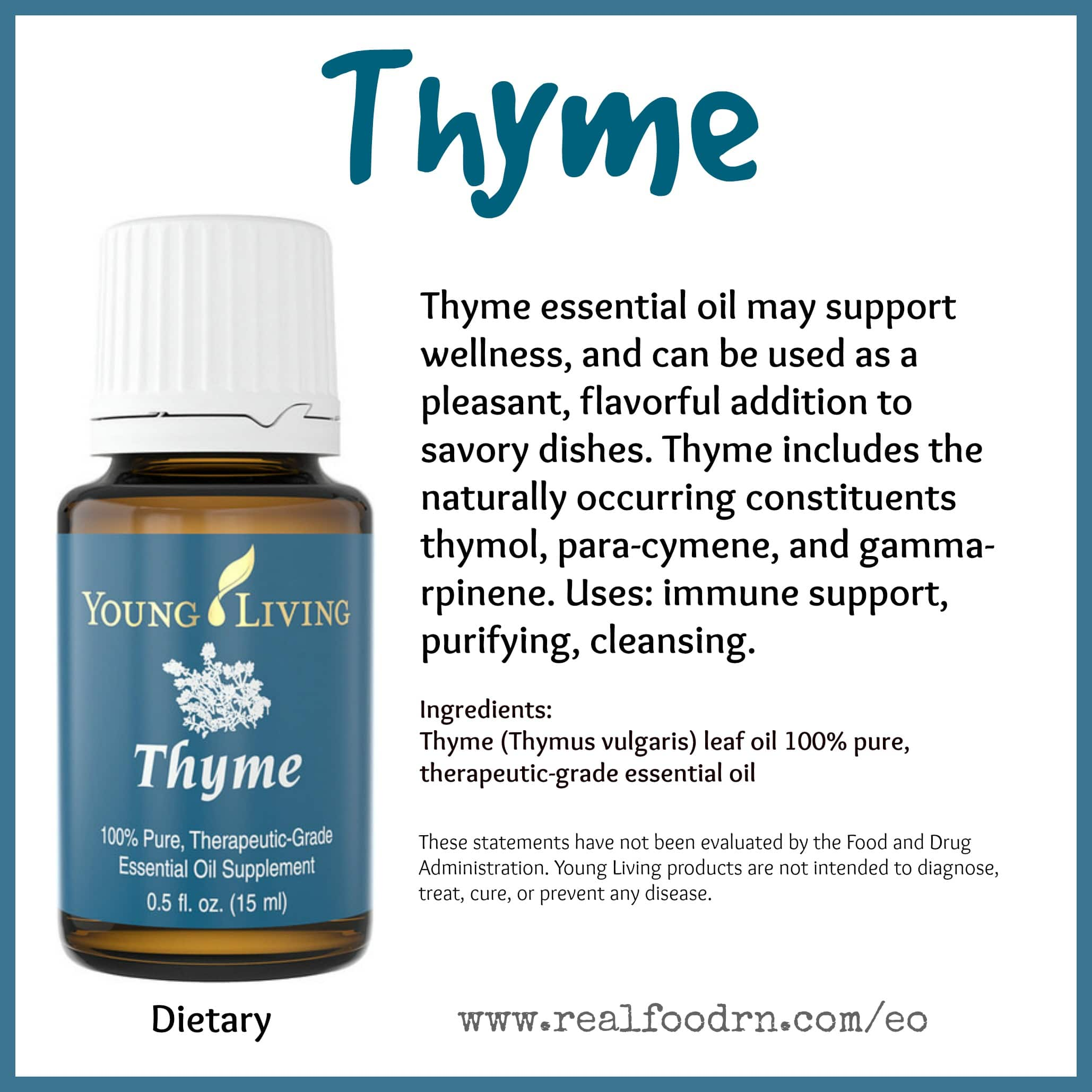 Thyme Essential Oil Pin