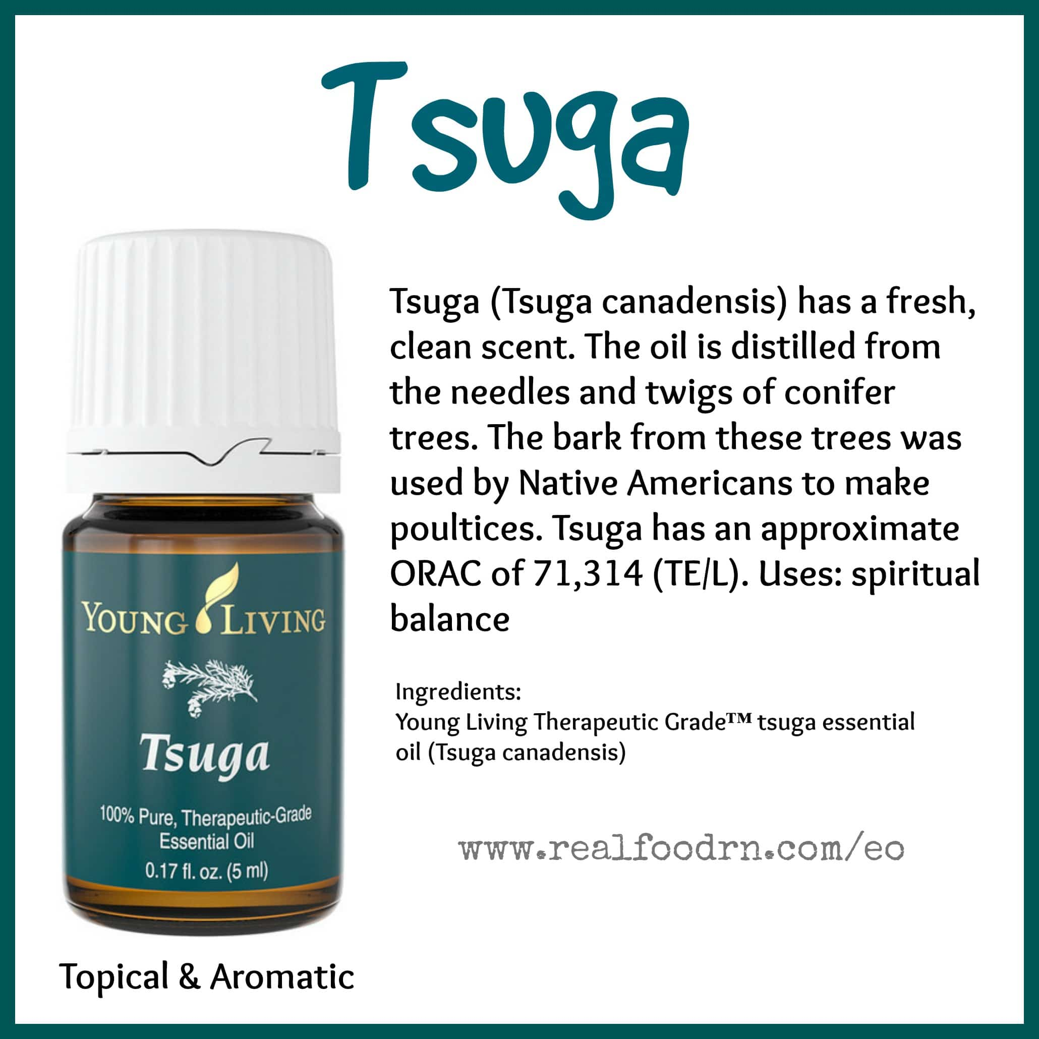 Tsuga Essential Oil Pin