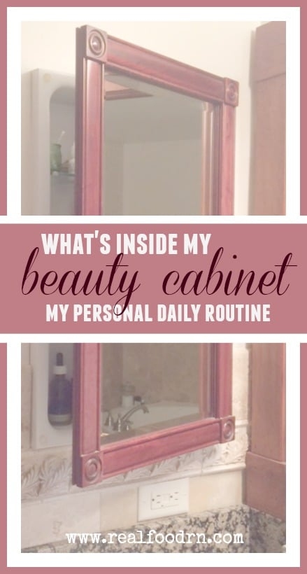 What's Inside My Beauty Cabinet | Real Food RN