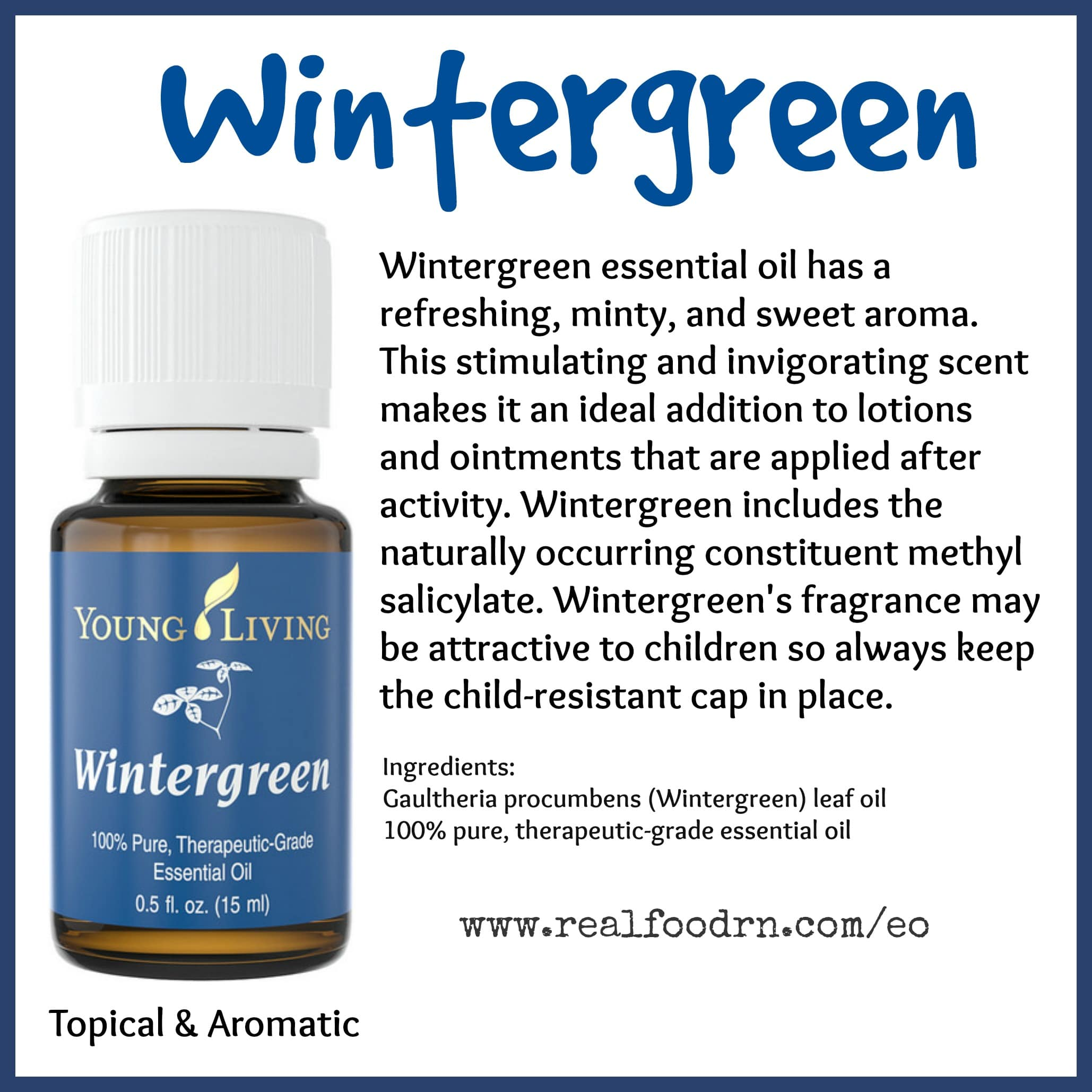 Wintergreen Essential Oil Pin