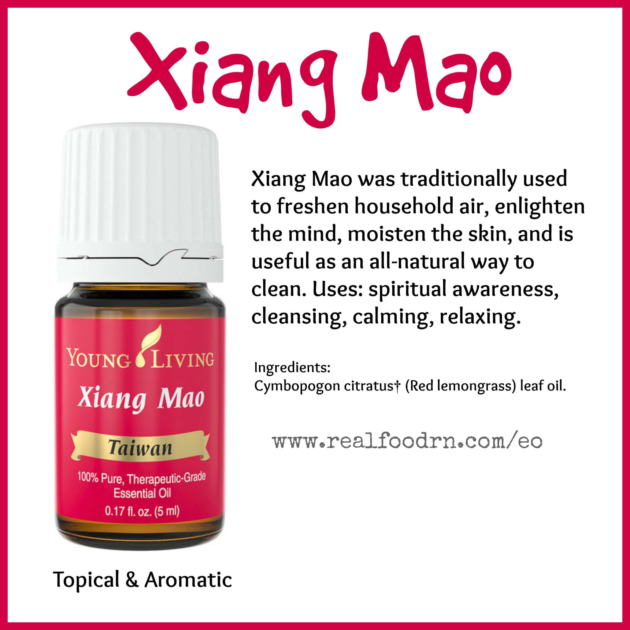Xiang Mao Essential Oil Pin