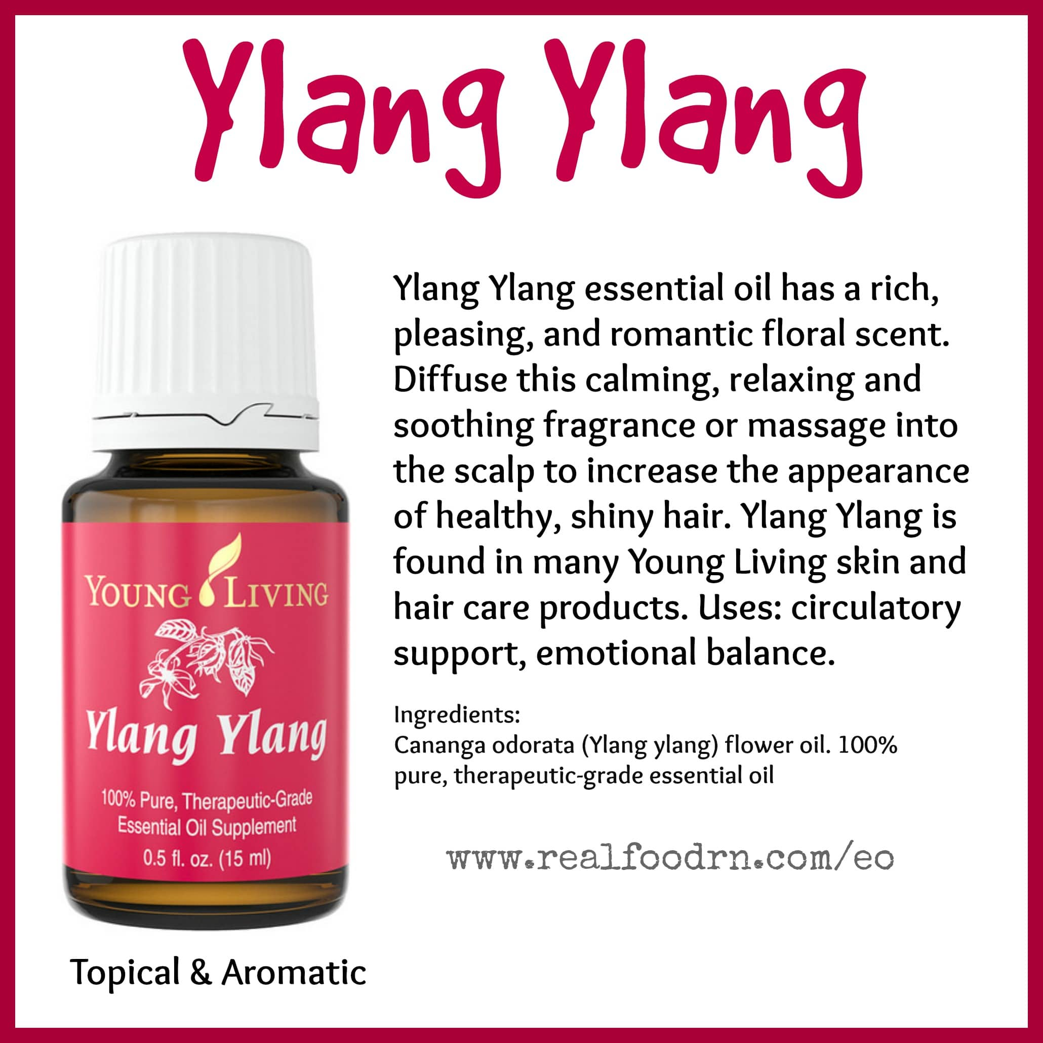 Ylang Ylang Essential Oil Pin