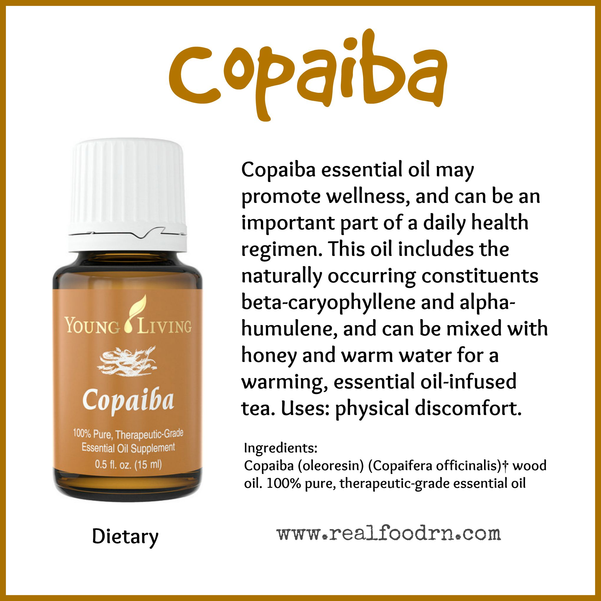 Copaiba Essential Oil Pin