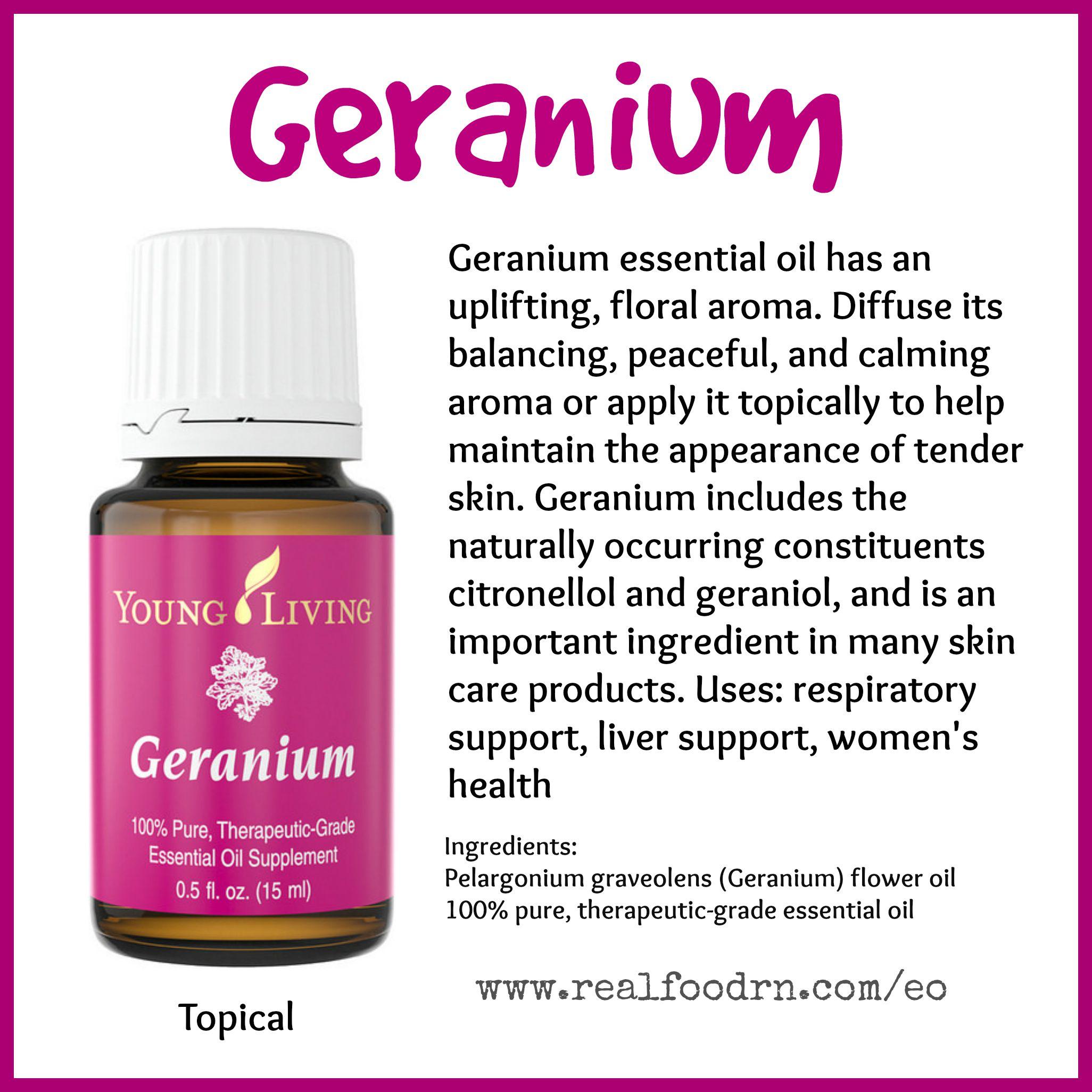Geranium Essential Oil Pin