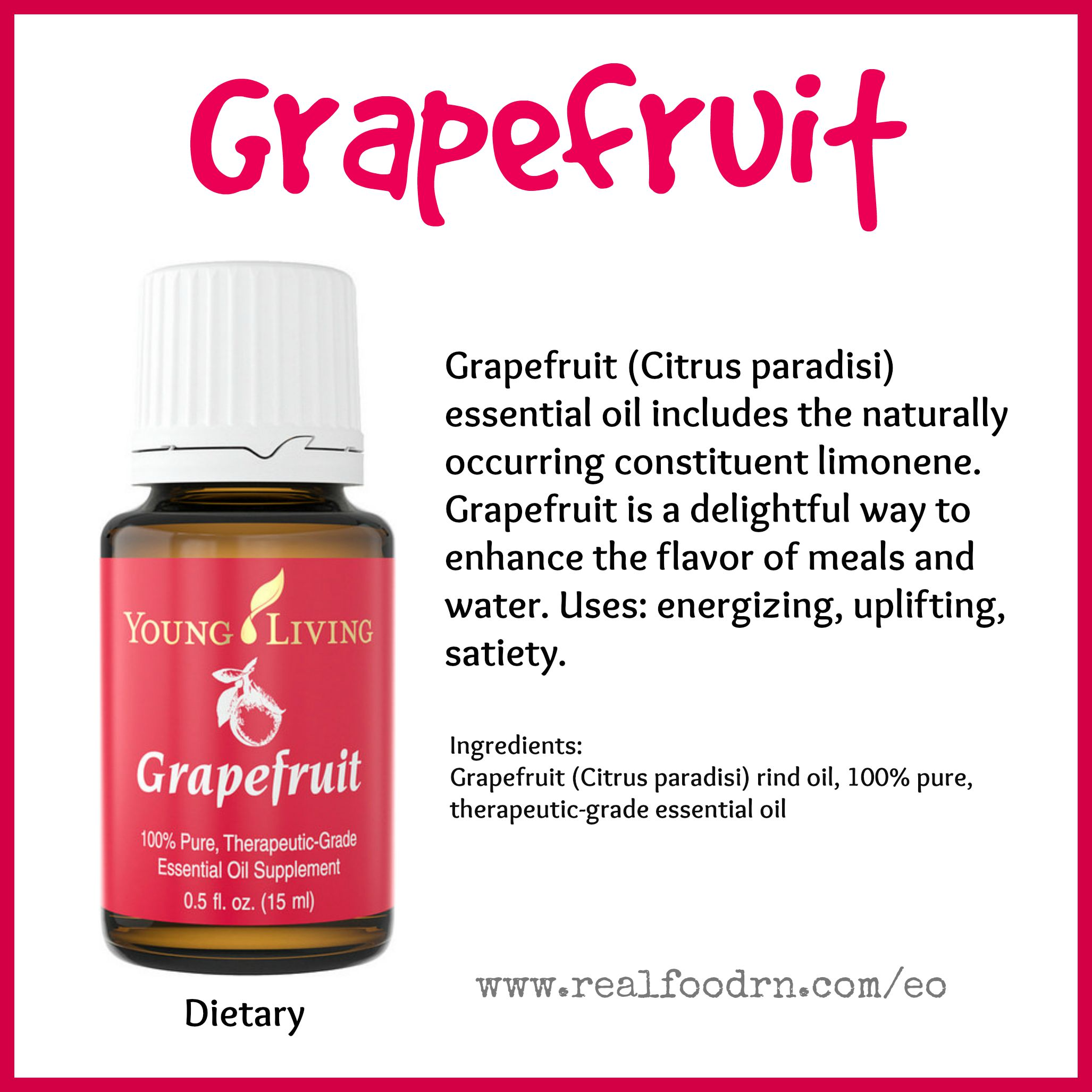 Grapefruit Essential Oil Pin