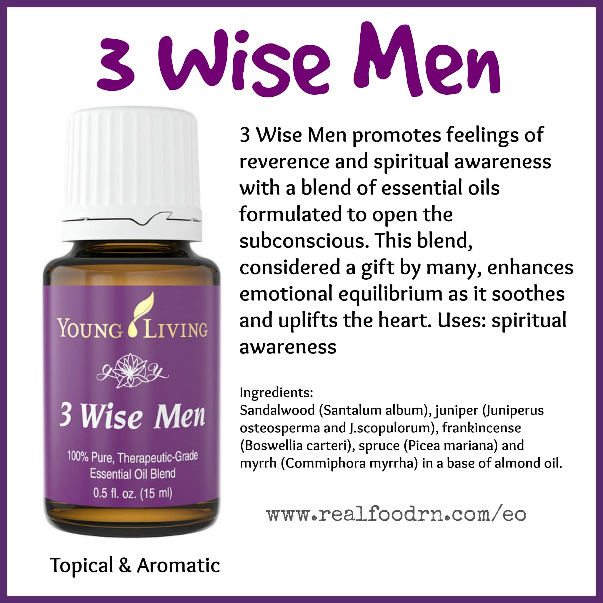 3 Wise Men Essential Oil Pin