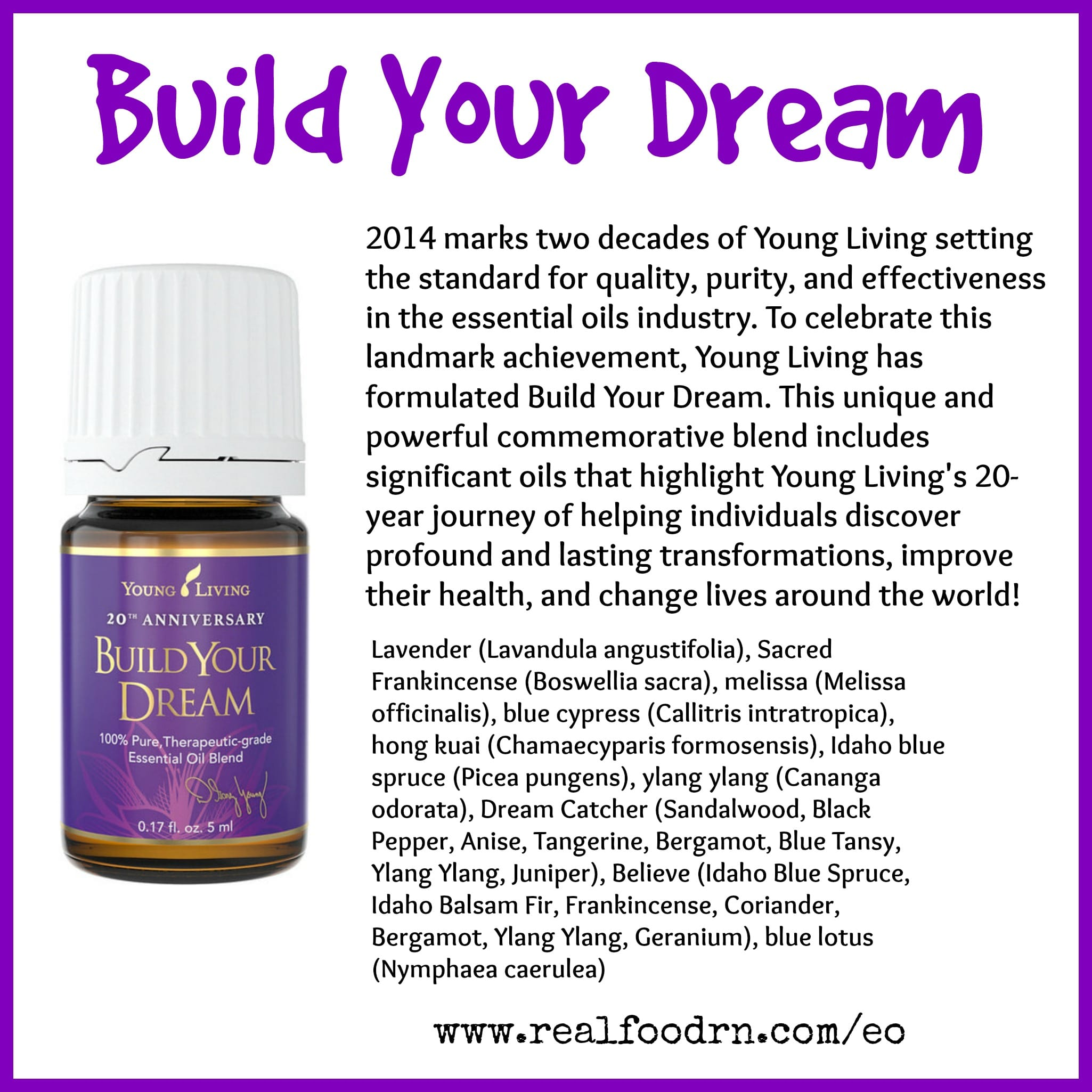 Build Your Dream Essential Oil Pin