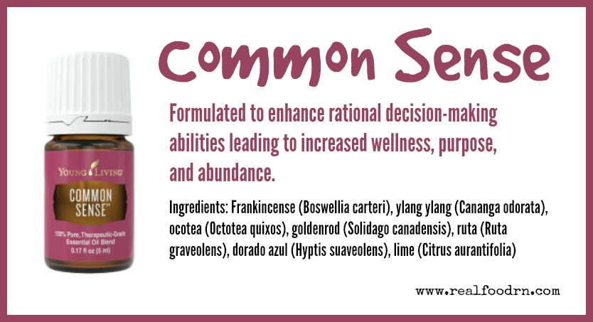 Common Sense Essential Oil | Real Food RN