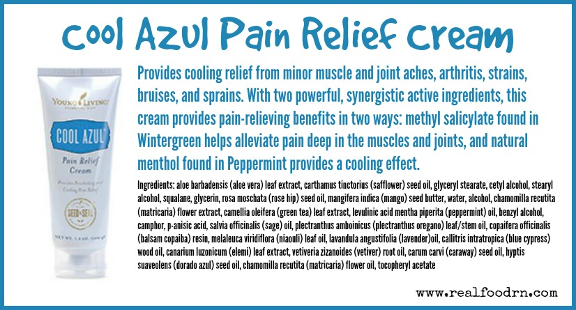 Cool Azul Pain Relief Cream | Real Food RN