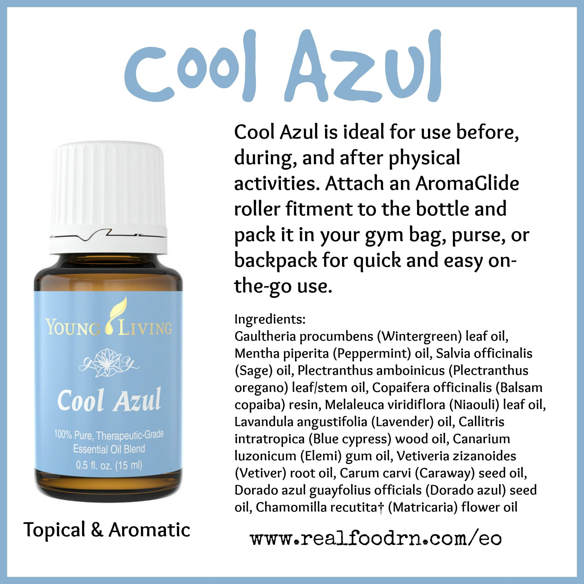 Cool Azul Essential Oil Pin