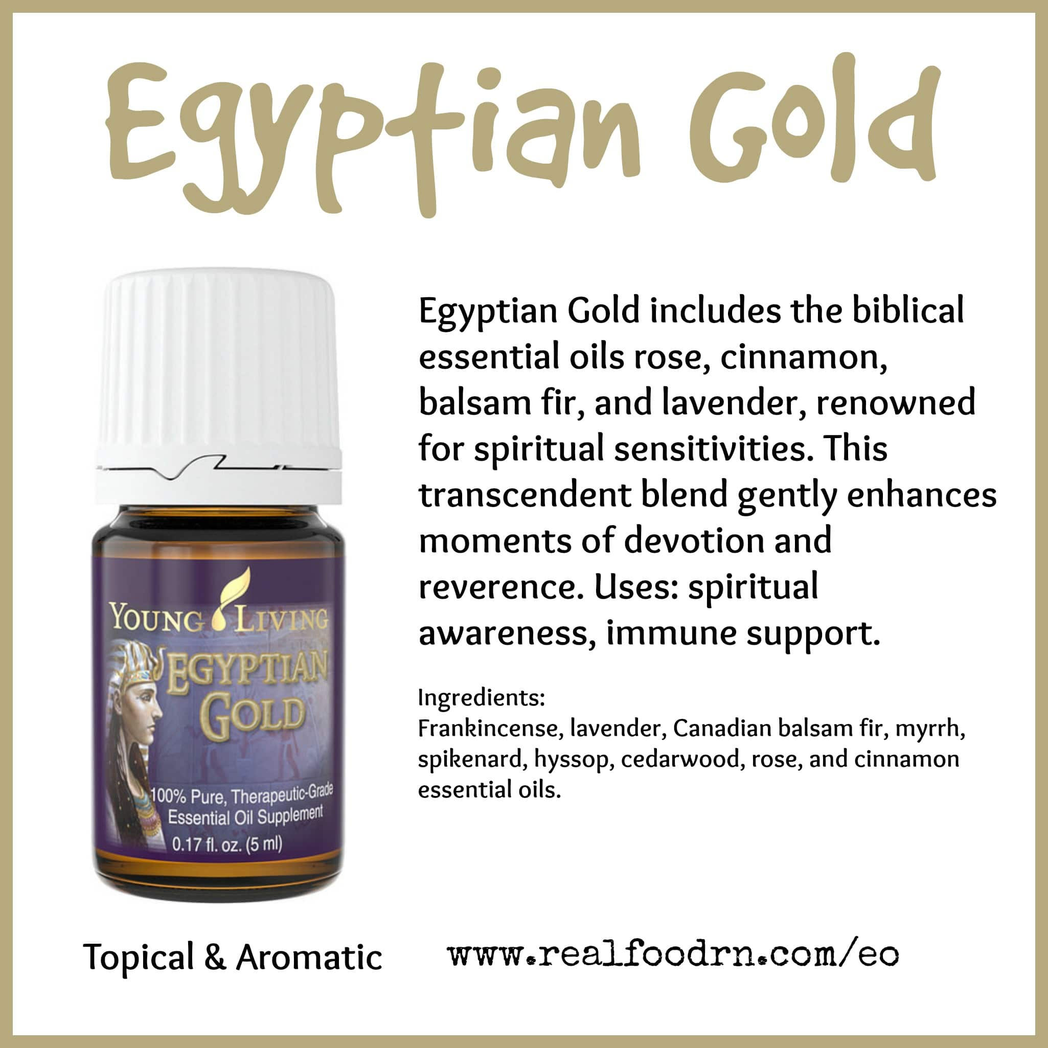 Egyptian Gold Essential Oil Pin