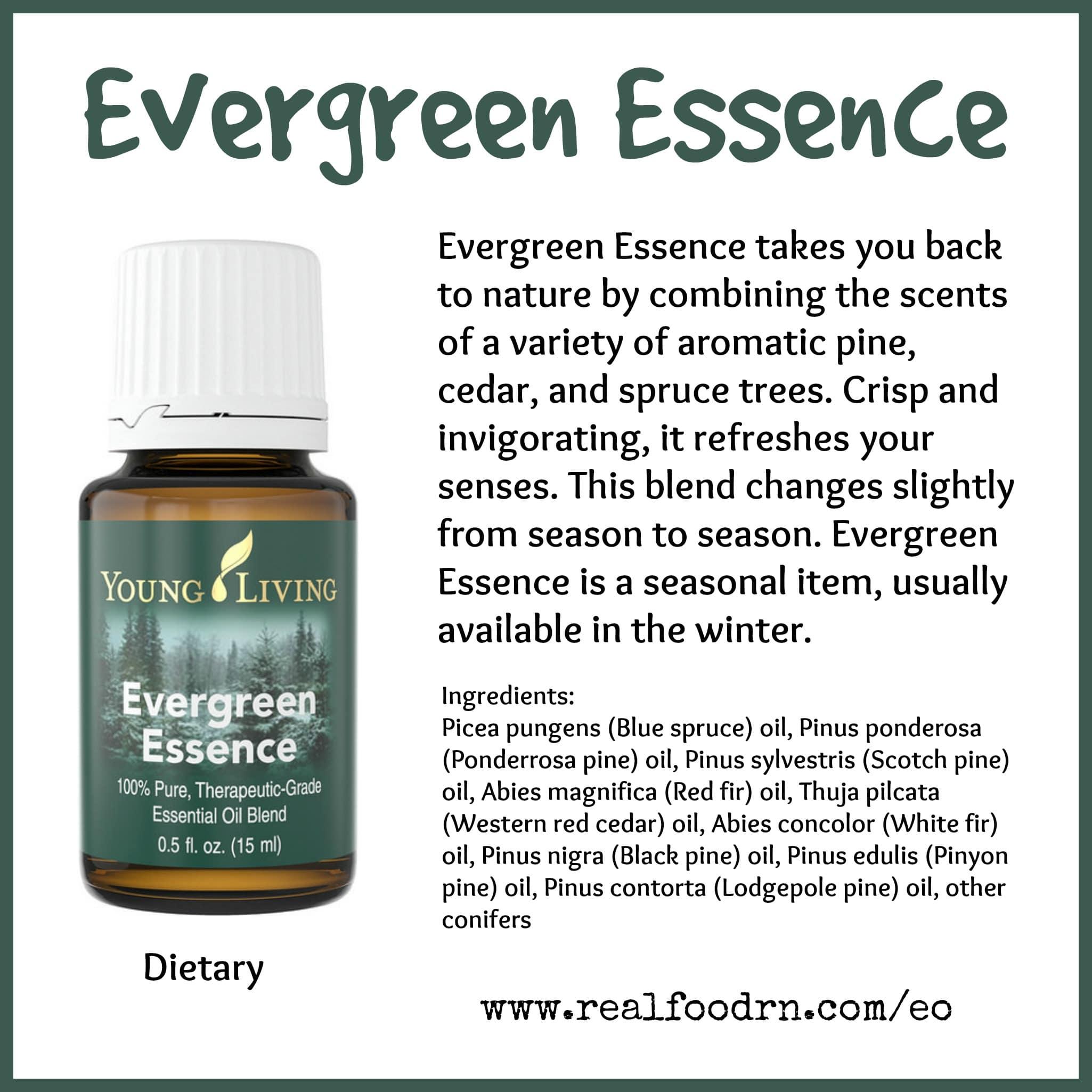 Evergreen Essence Essential Oil Pin
