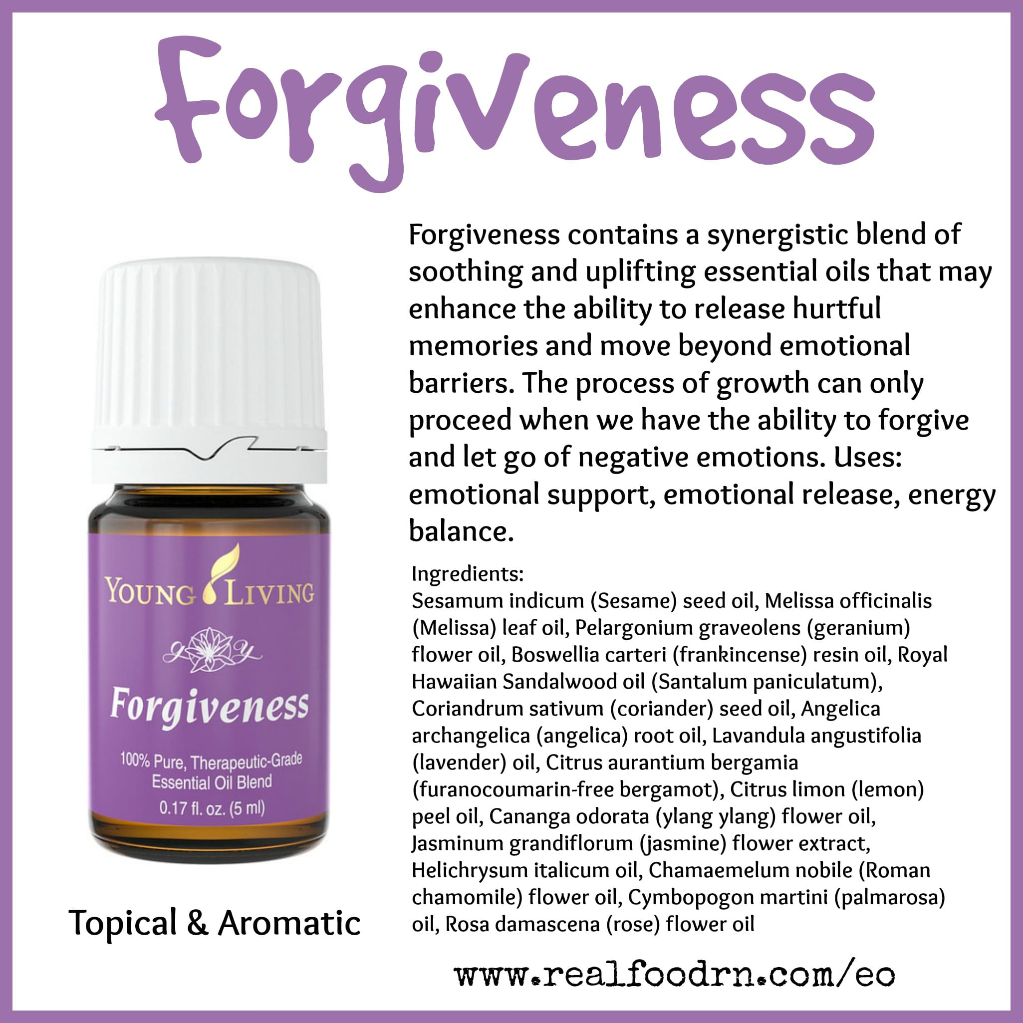 Forgiveness Essential Oil Pin