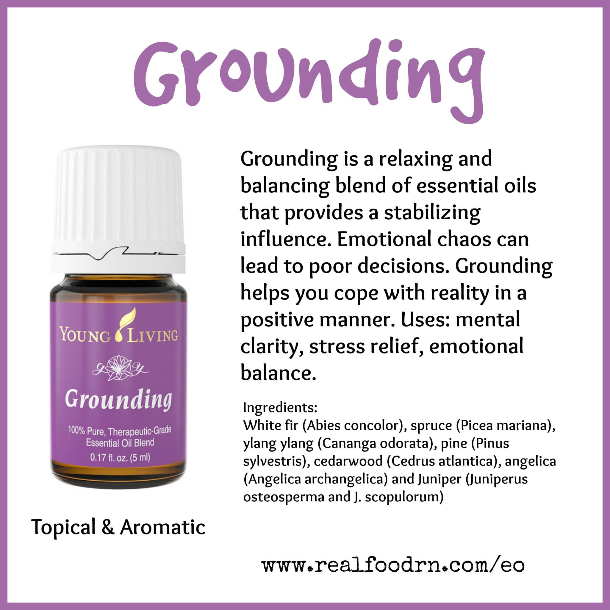 Grounding Essential Oil Pin