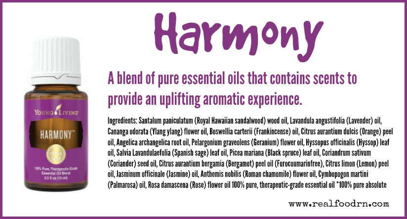 Harmony Essential Oil Real Food Rn