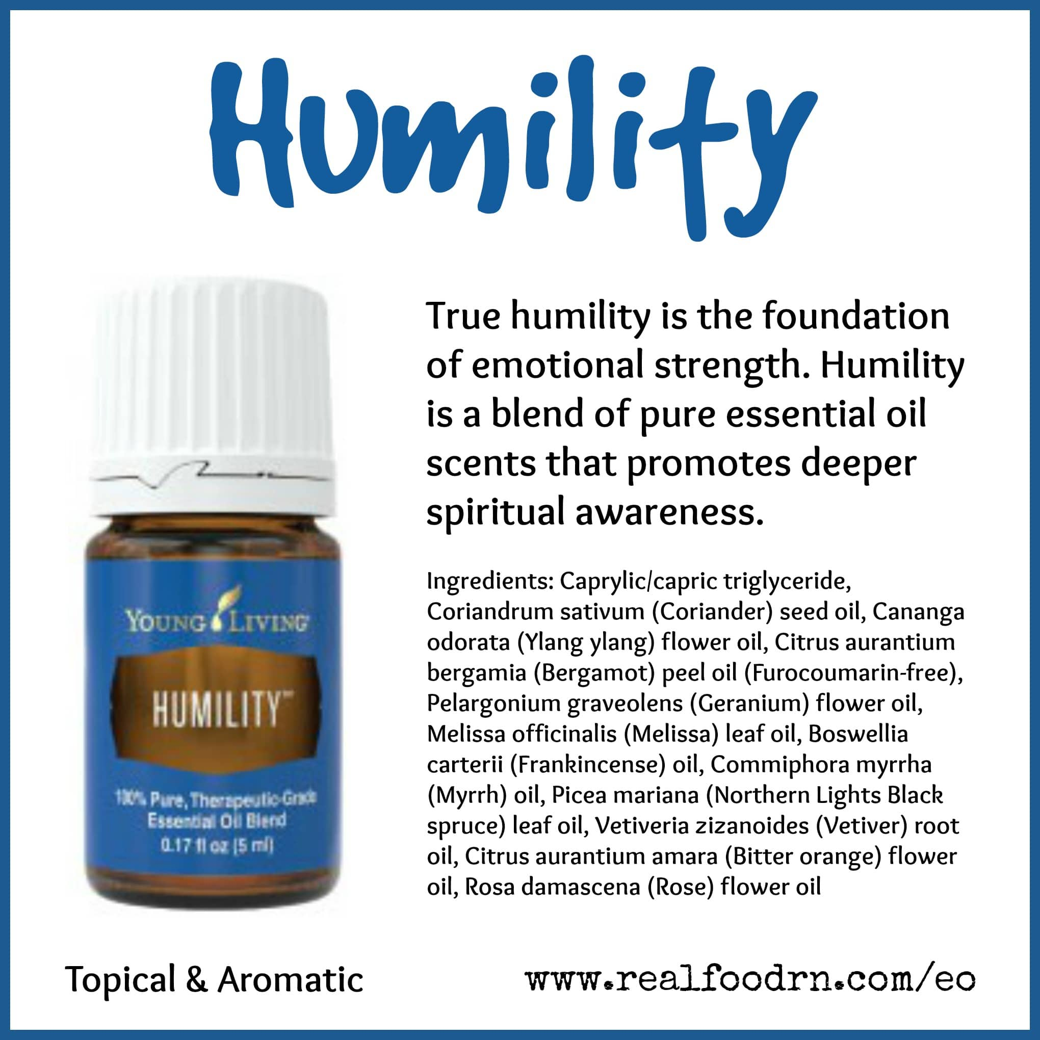 Humility Essential Oil Pin