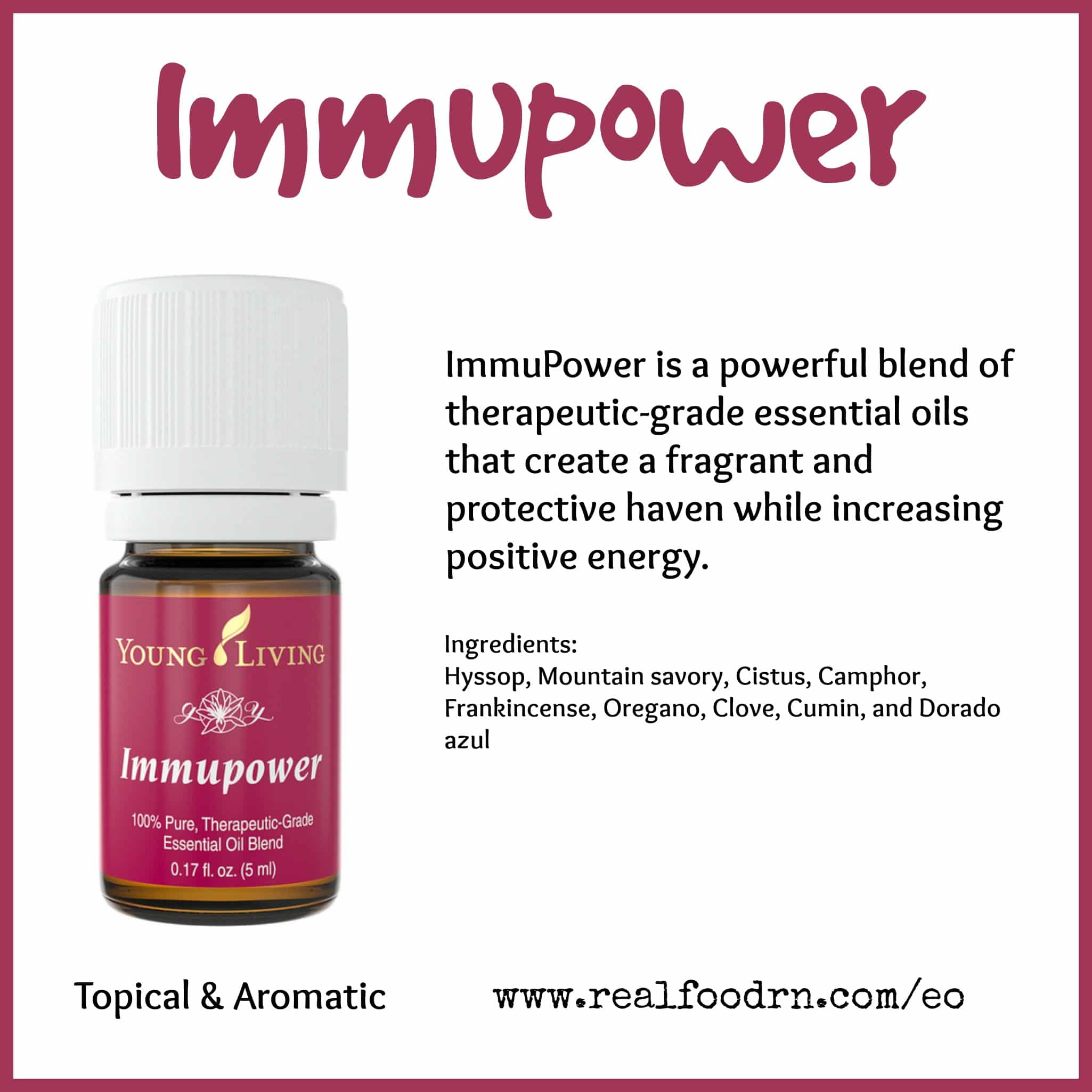 ImmuPower Essential Oil Pin
