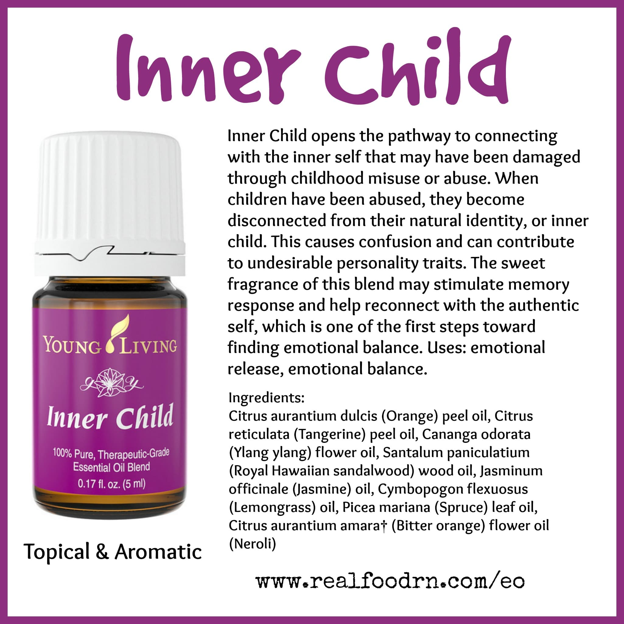 Inner Child Essential Oil Pin