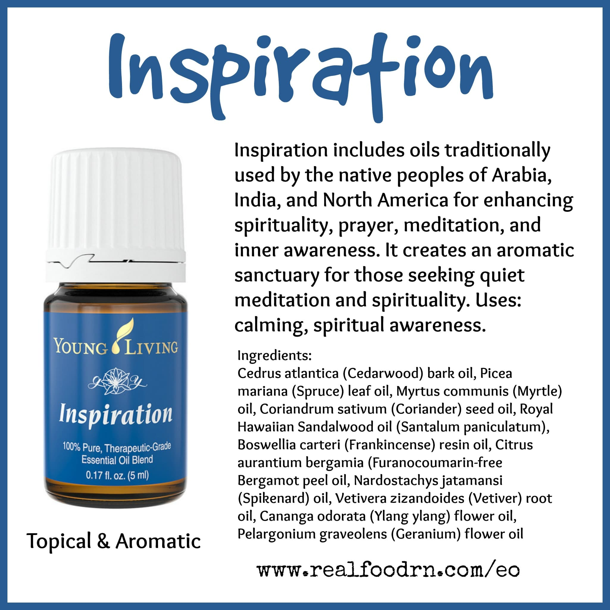 Inspiration Essential Oil Pin