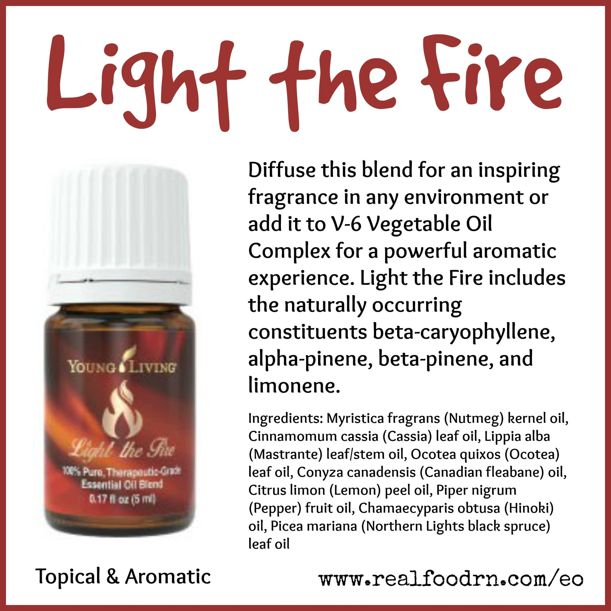 Light the Fire Essential Oil Pin