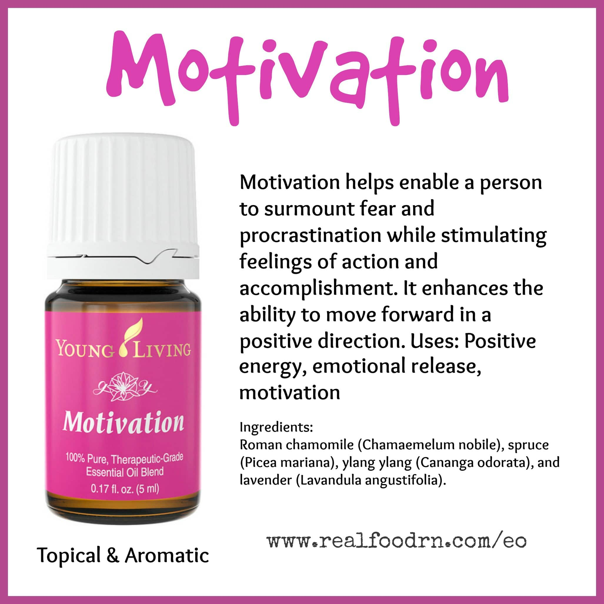 Motivation Essential Oil Pin