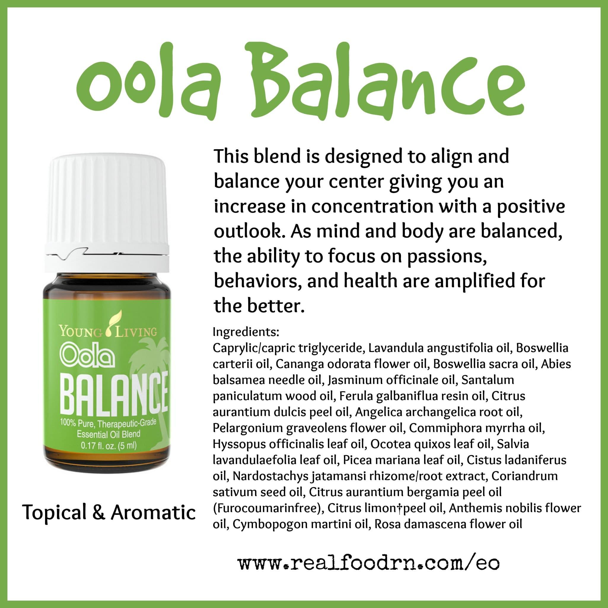 Oola Balance Essential Oil Pin