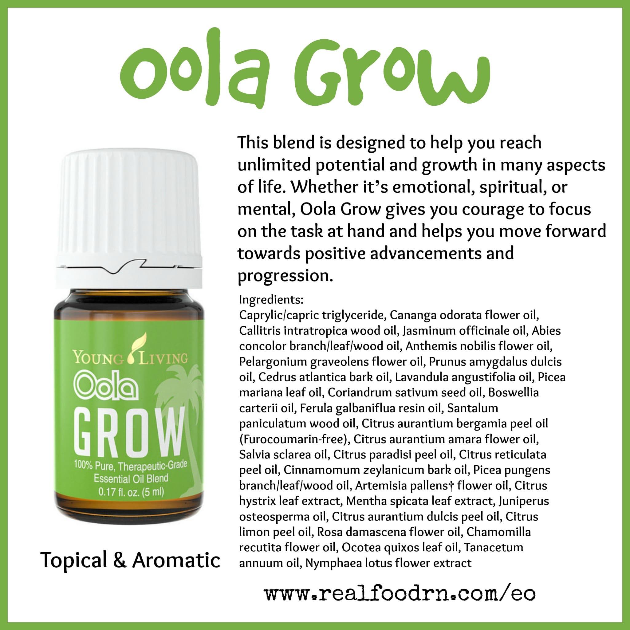 Oola Grow Essential Oil Pin