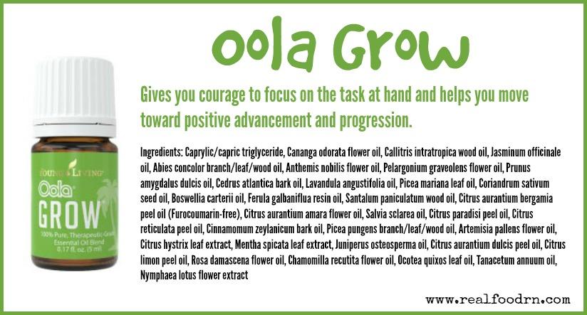 Oola Grow Essential Oil | Real Food RN