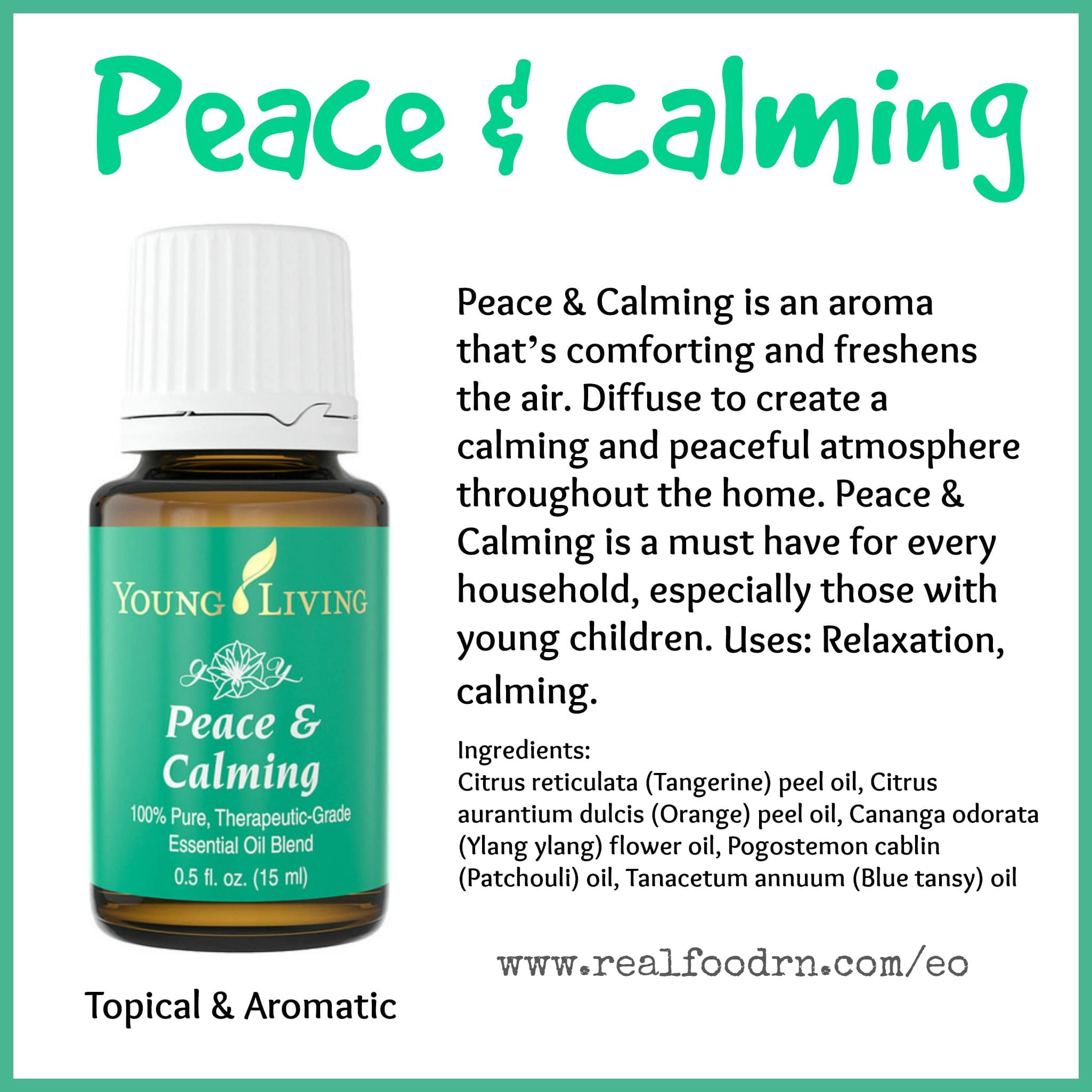 Peace & Calming Essential Oil Pin