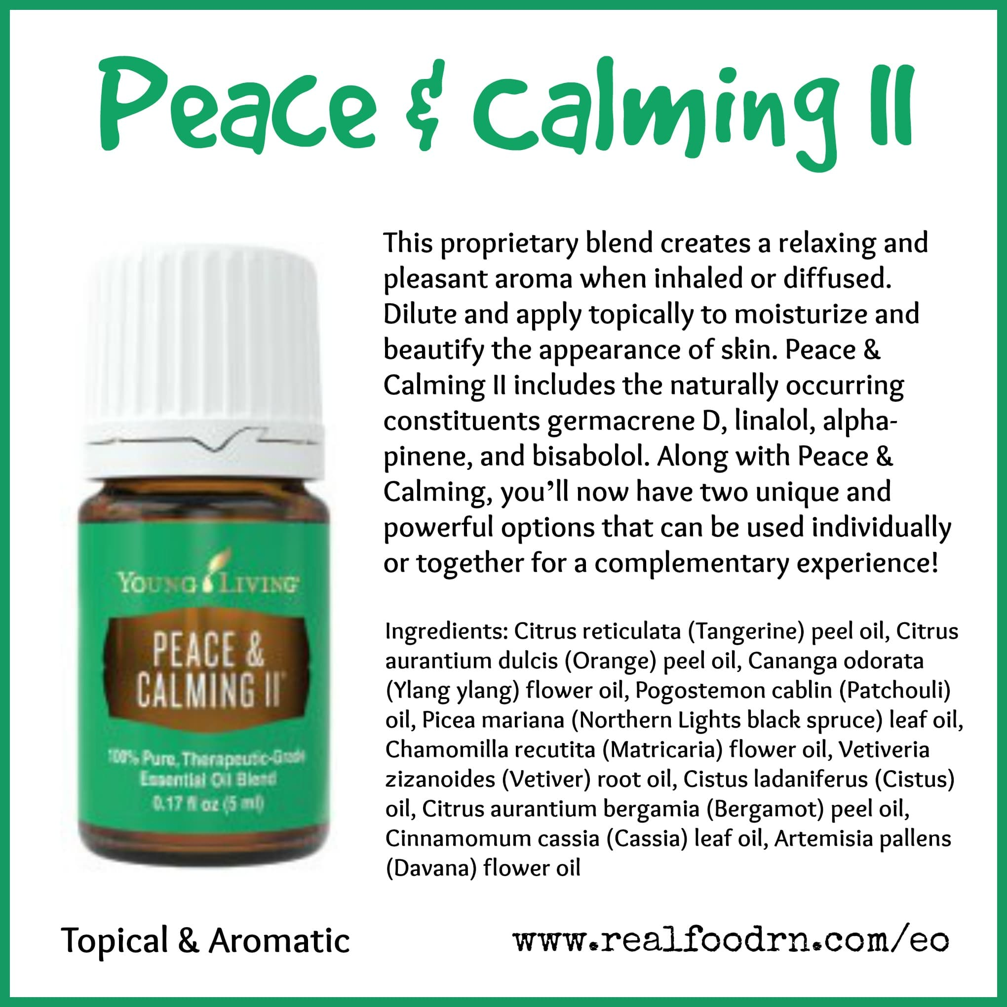 Peace & Calming II Essential Oil Pin
