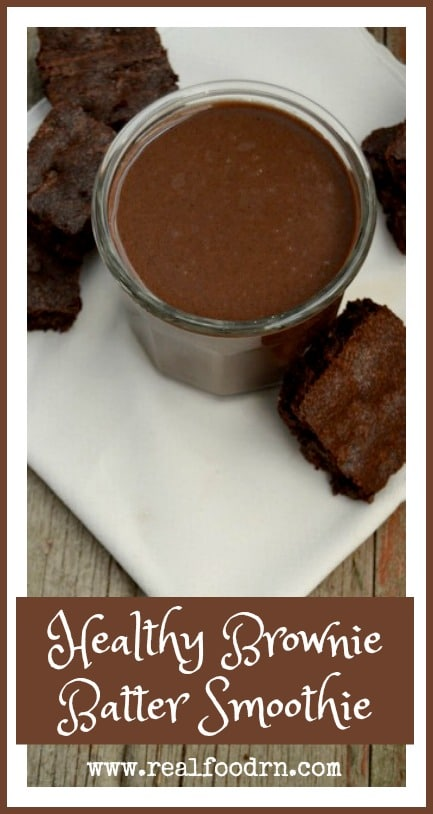 Quick & Easy Healthy Brownie Batter Smoothie | Real Food RN