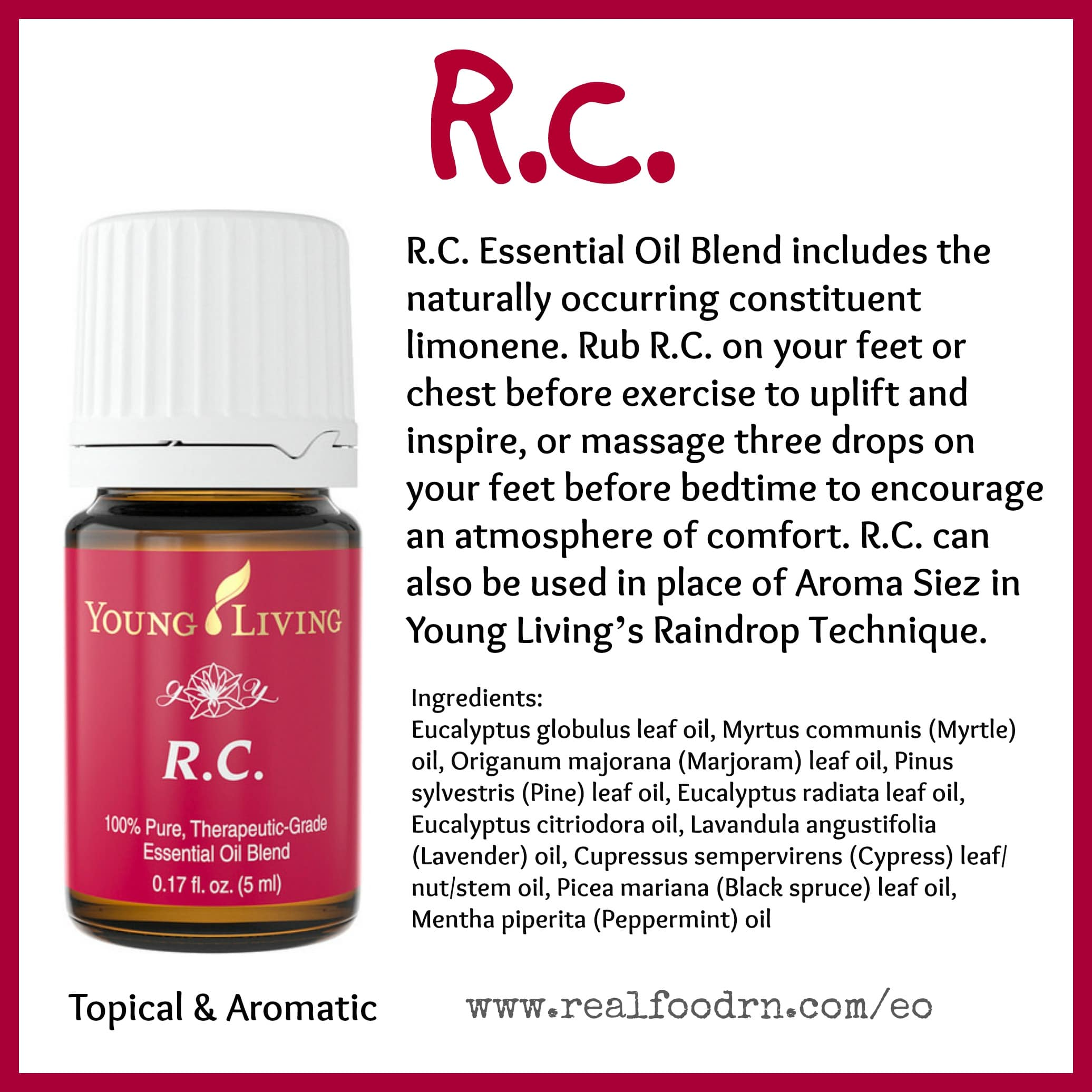 RC Essential Oil Pin