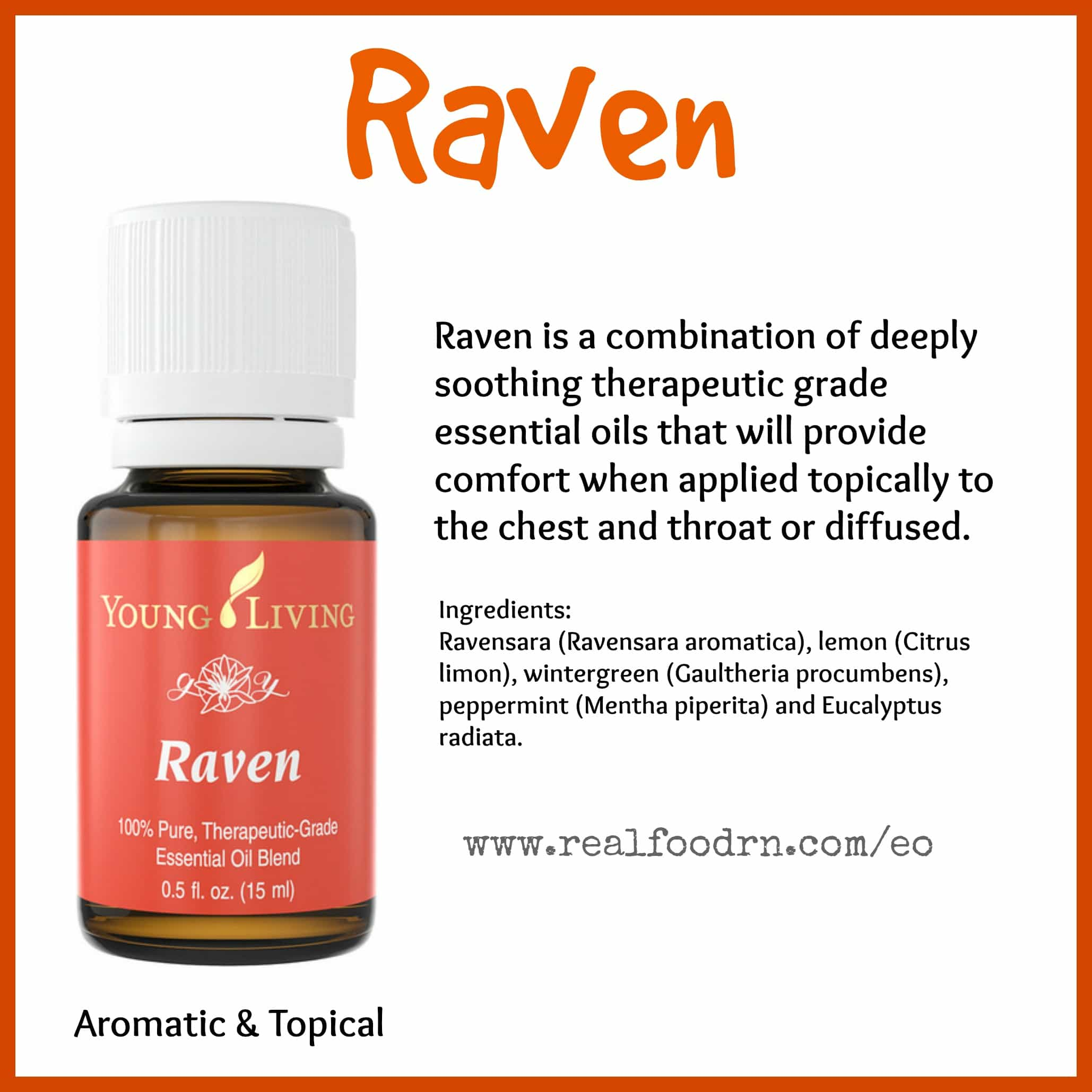 Raven Essential Oil Pin